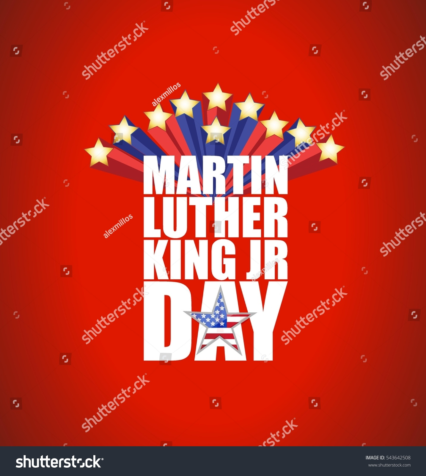Martin Luther King Jr Day Sign Stock Vector Royalty Free 543642508