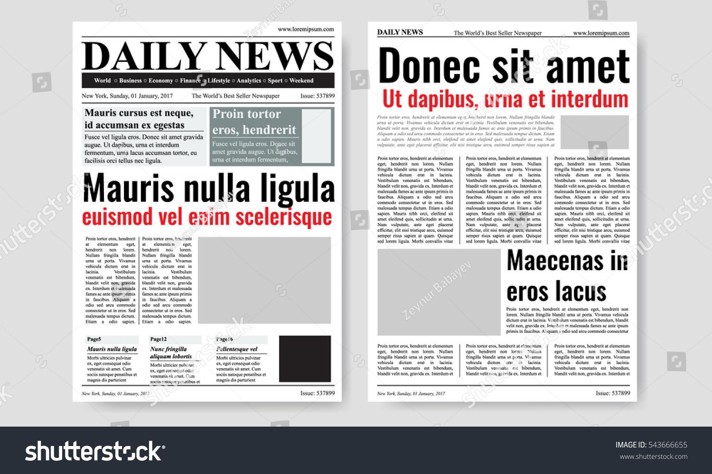 news paper templates