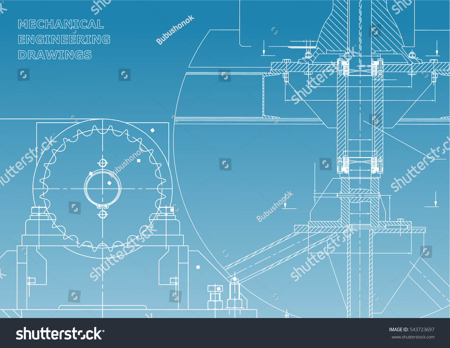 Blueprints mechanical construction engineering illustrations blueprints mechanical construction engineering illustrations technical design banner blue and white malvernweather Choice Image