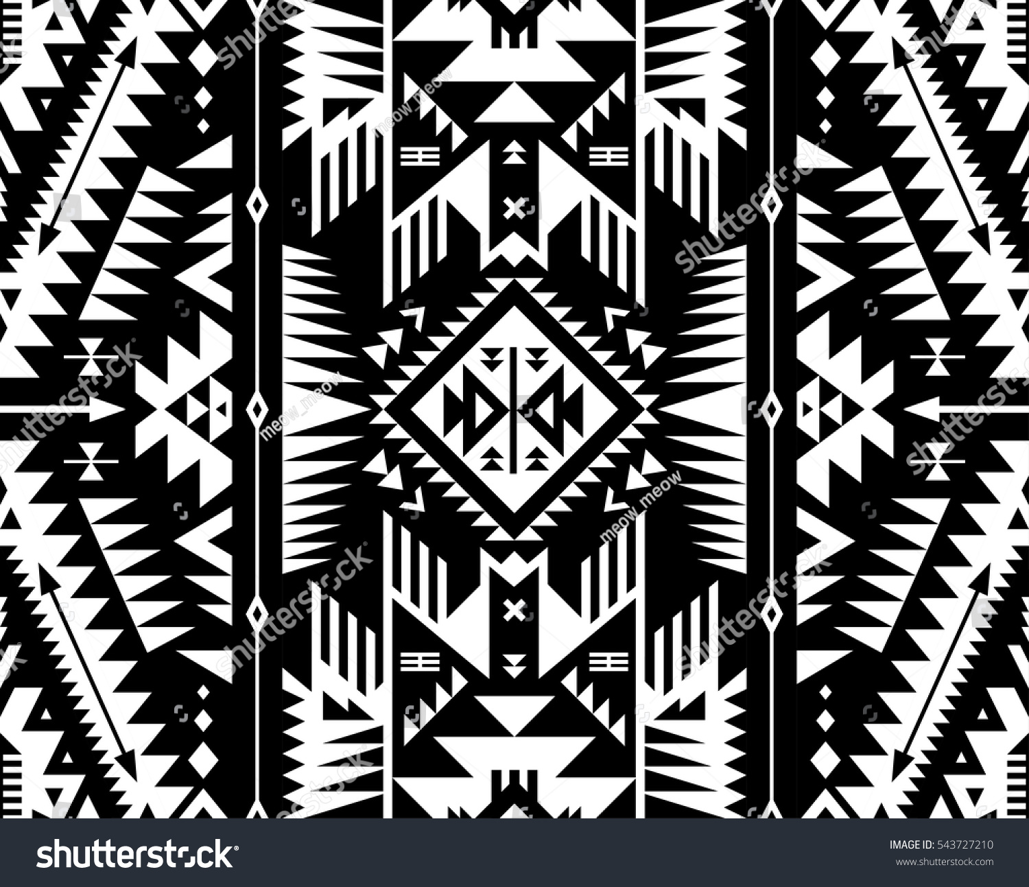 black white color tribal navajo vector stock vector