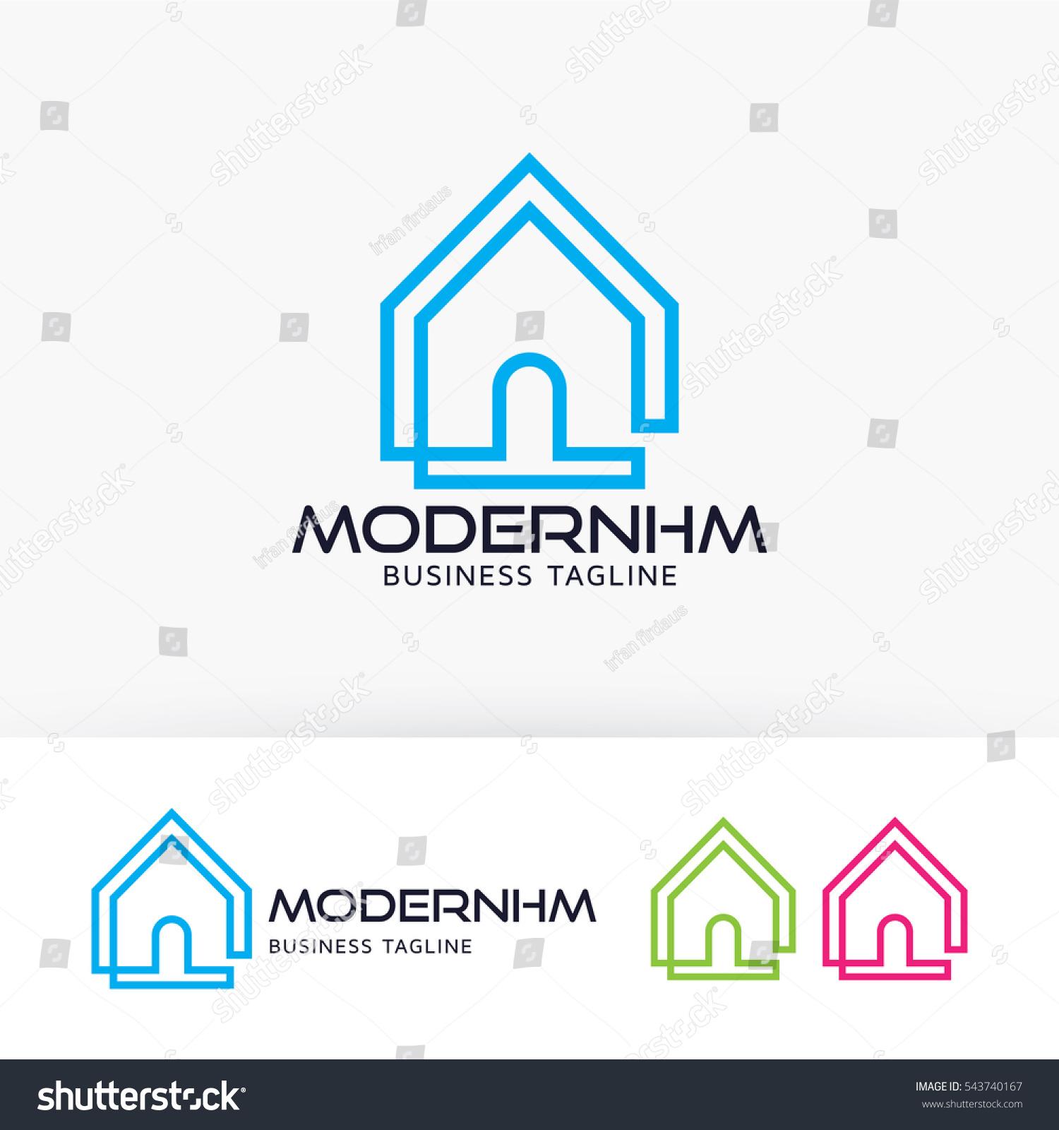 Modern Home Design Modern Draw Concept Stock Vector 543740167 ...