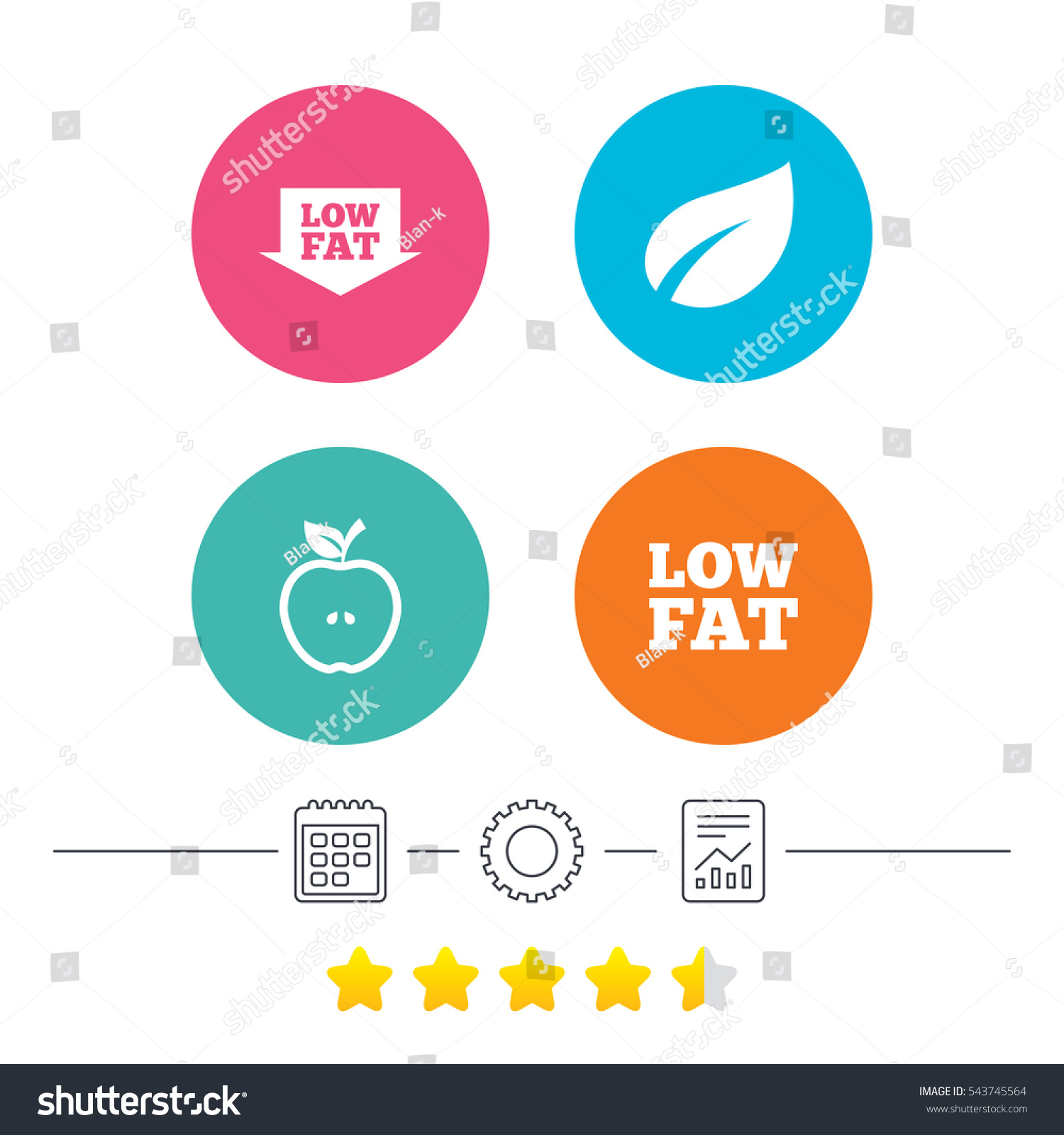 Low fat arrow icons diets vegetarian stock vector 543745564 low fat arrow icons diets and vegetarian food signs apple with leaf symbol buycottarizona