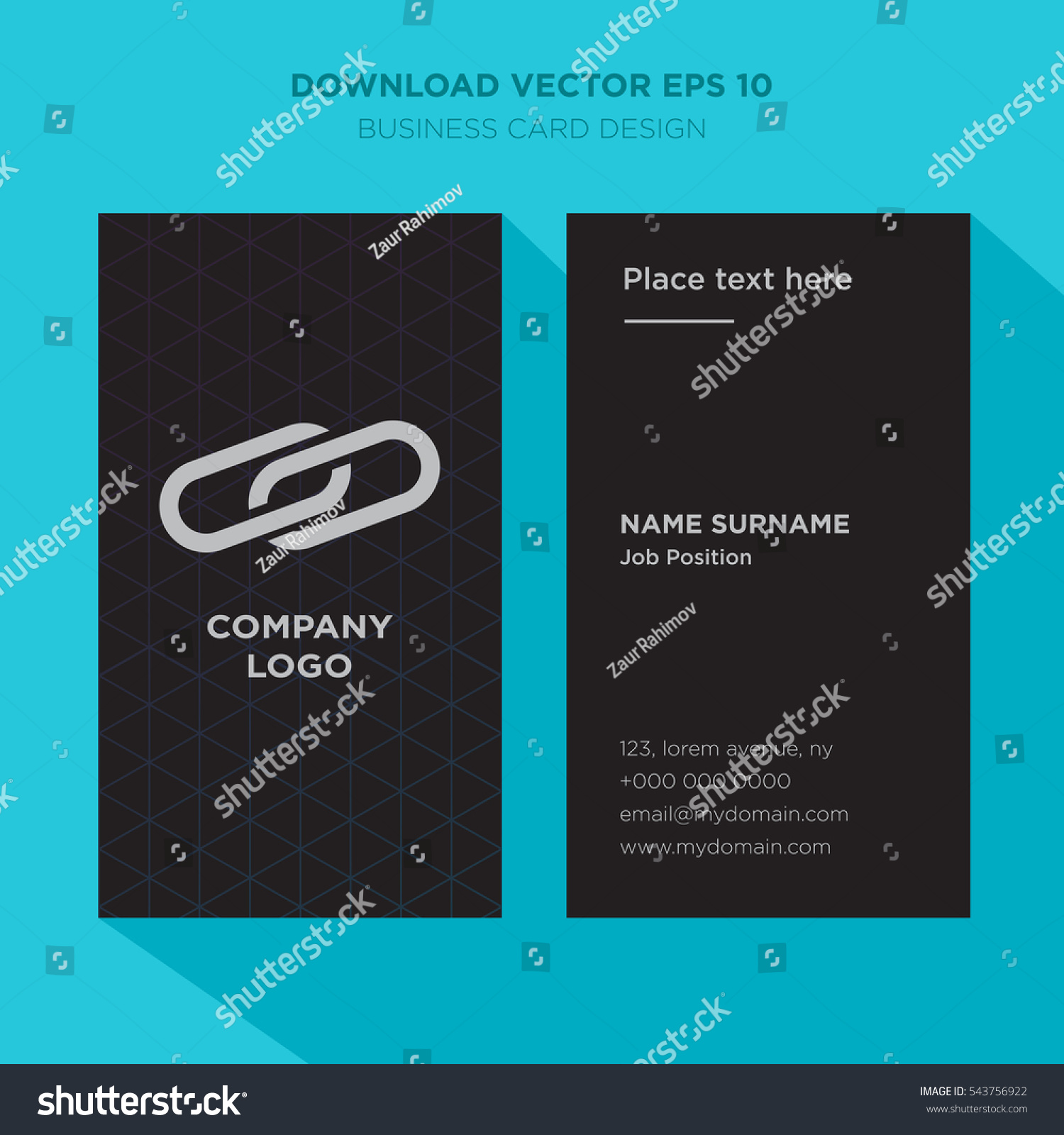 Template Elegant Business Card Management Services Stock Vector ...