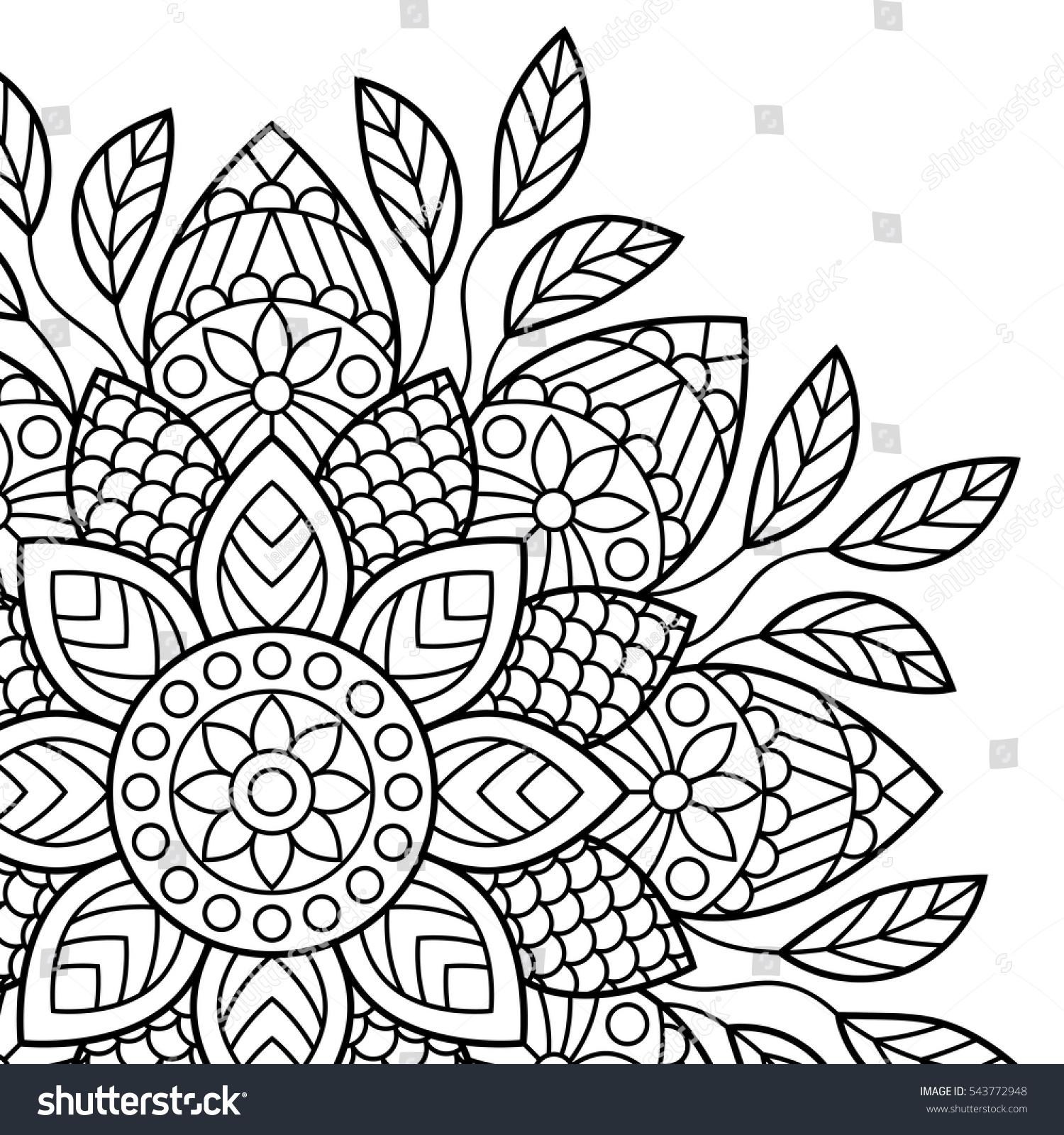 Mandala Coloring Book Pages Indian Antistress Stock Vector HD