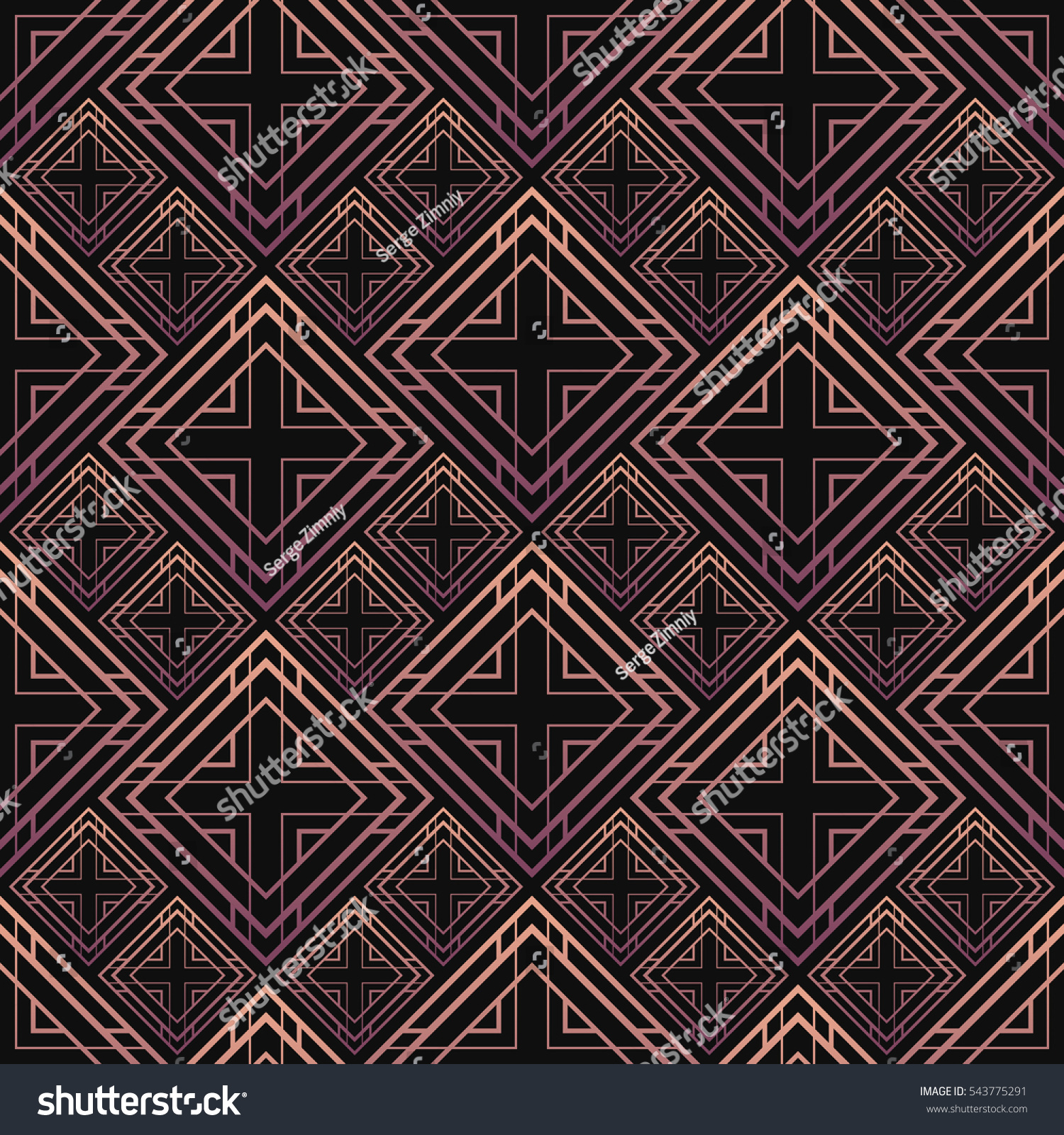 Art deco ceramic tiles images tile flooring design ideas seamless pattern art deco style black stock vector 543775291 seamless pattern in art deco style black dailygadgetfo Images