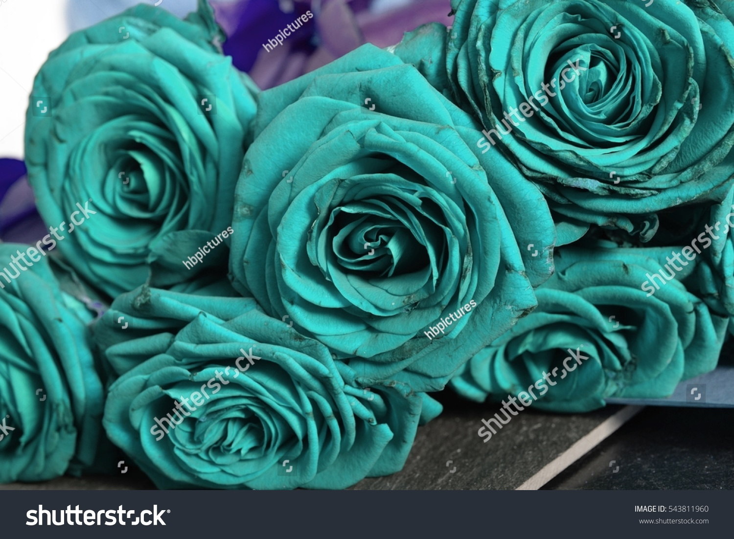 Arrangement aqua blooming roses romantic bouquet stock photo romantic bouquet with withering flowers for birthday gift mothers izmirmasajfo