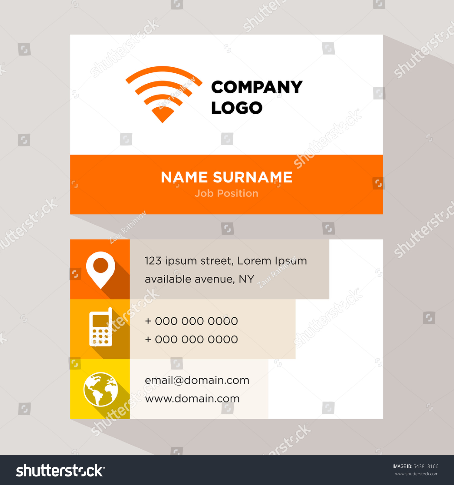 Template Personal Card Networking Services Company Stock