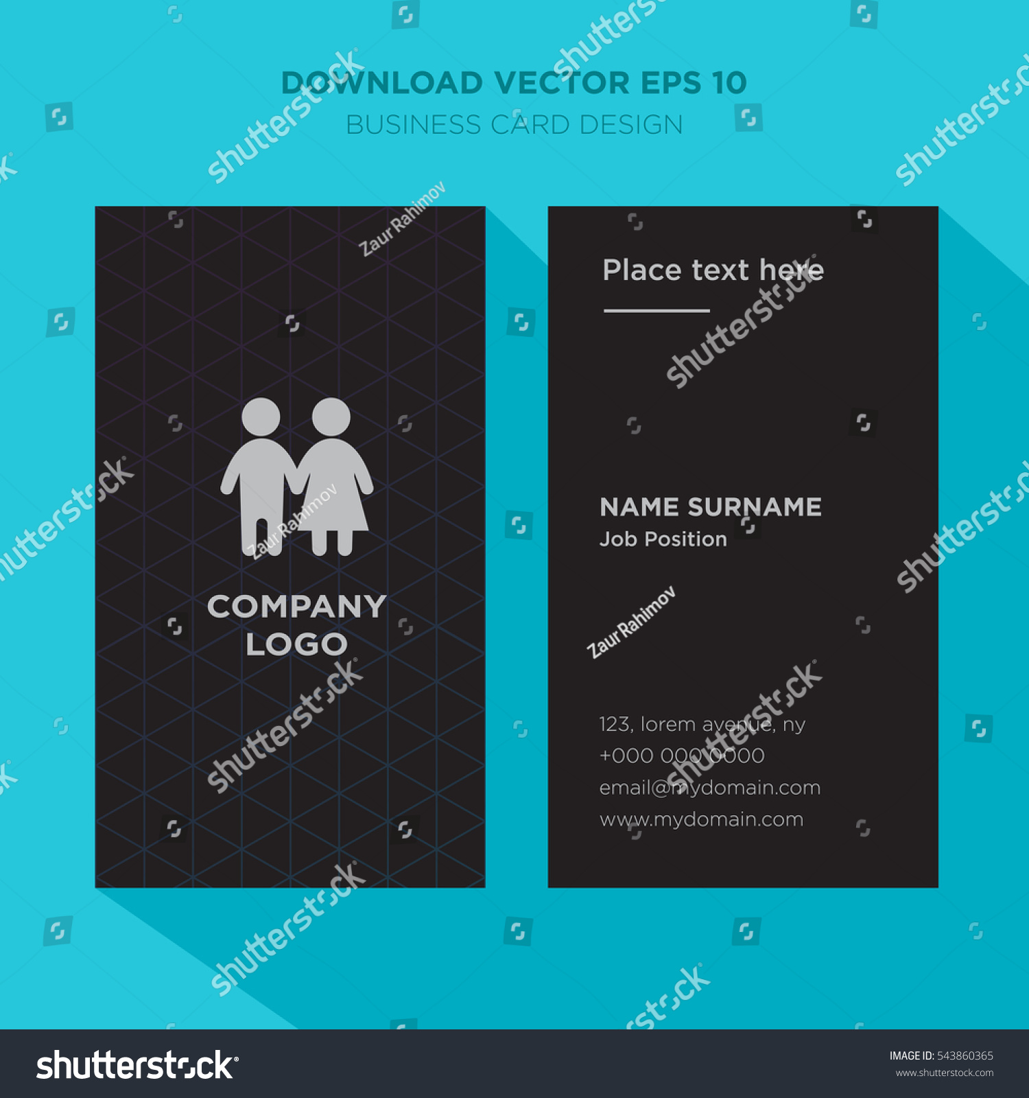 Template Elegant Business Card Health Care Stock Vector 543860365 ...