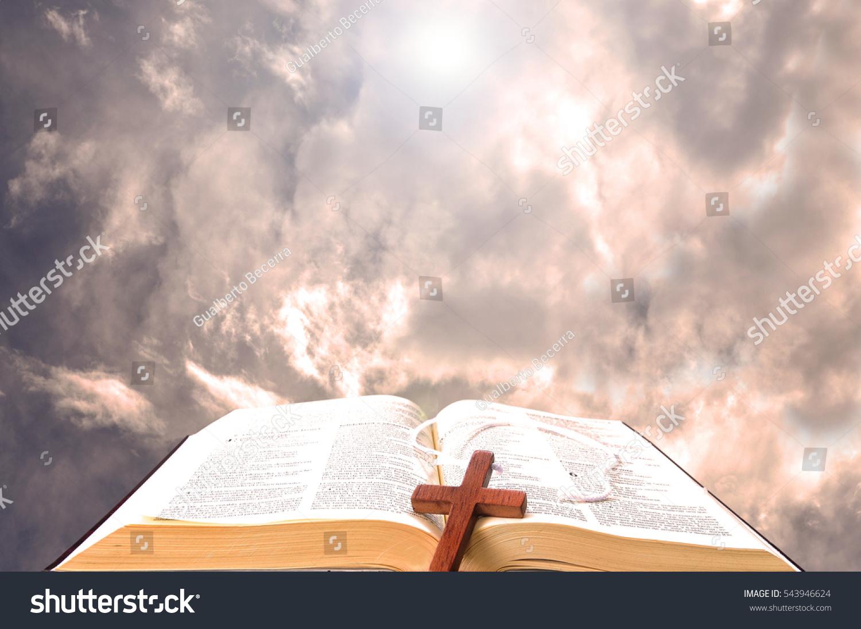 Open Bible Against Clo...