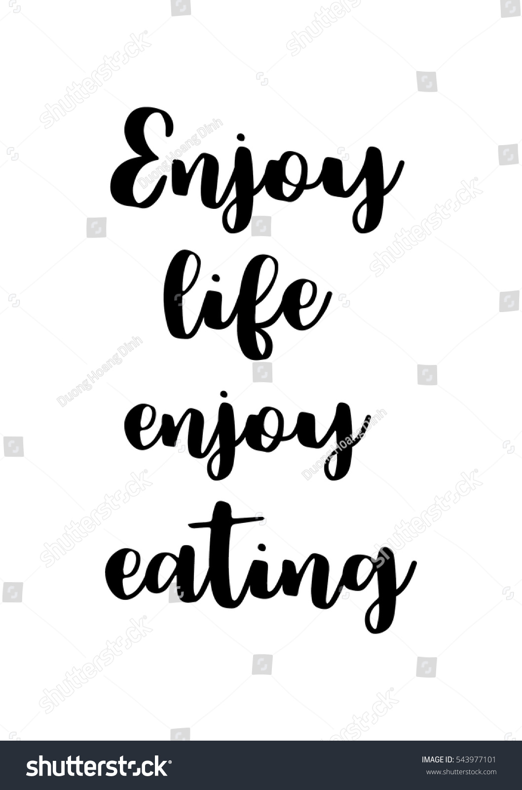 Quote food calligraphy style hand lettering stock vector for Cuisine font