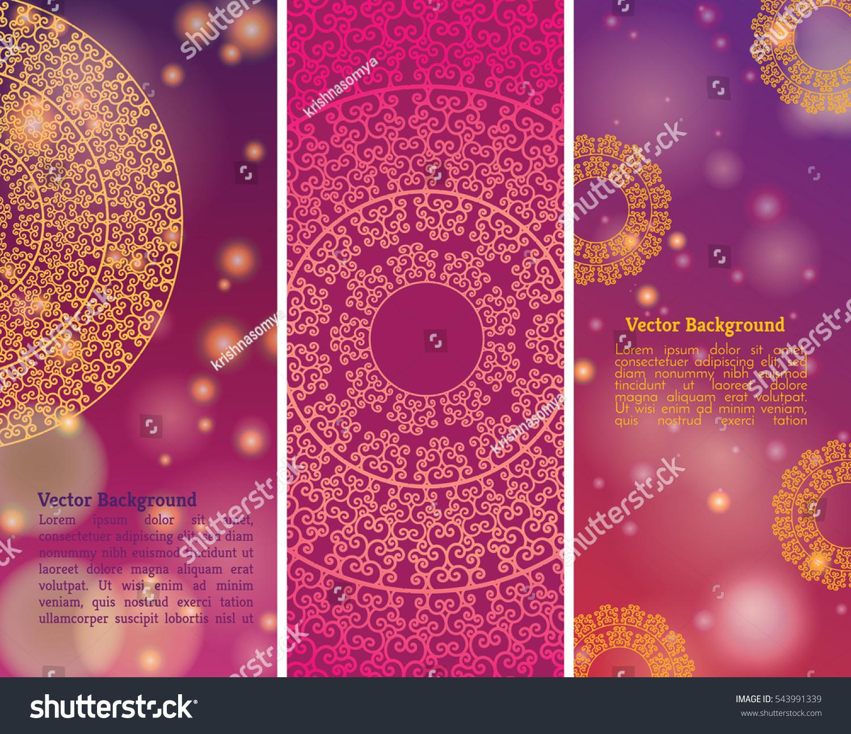 ethnic colorful henna mandala design on stock vector