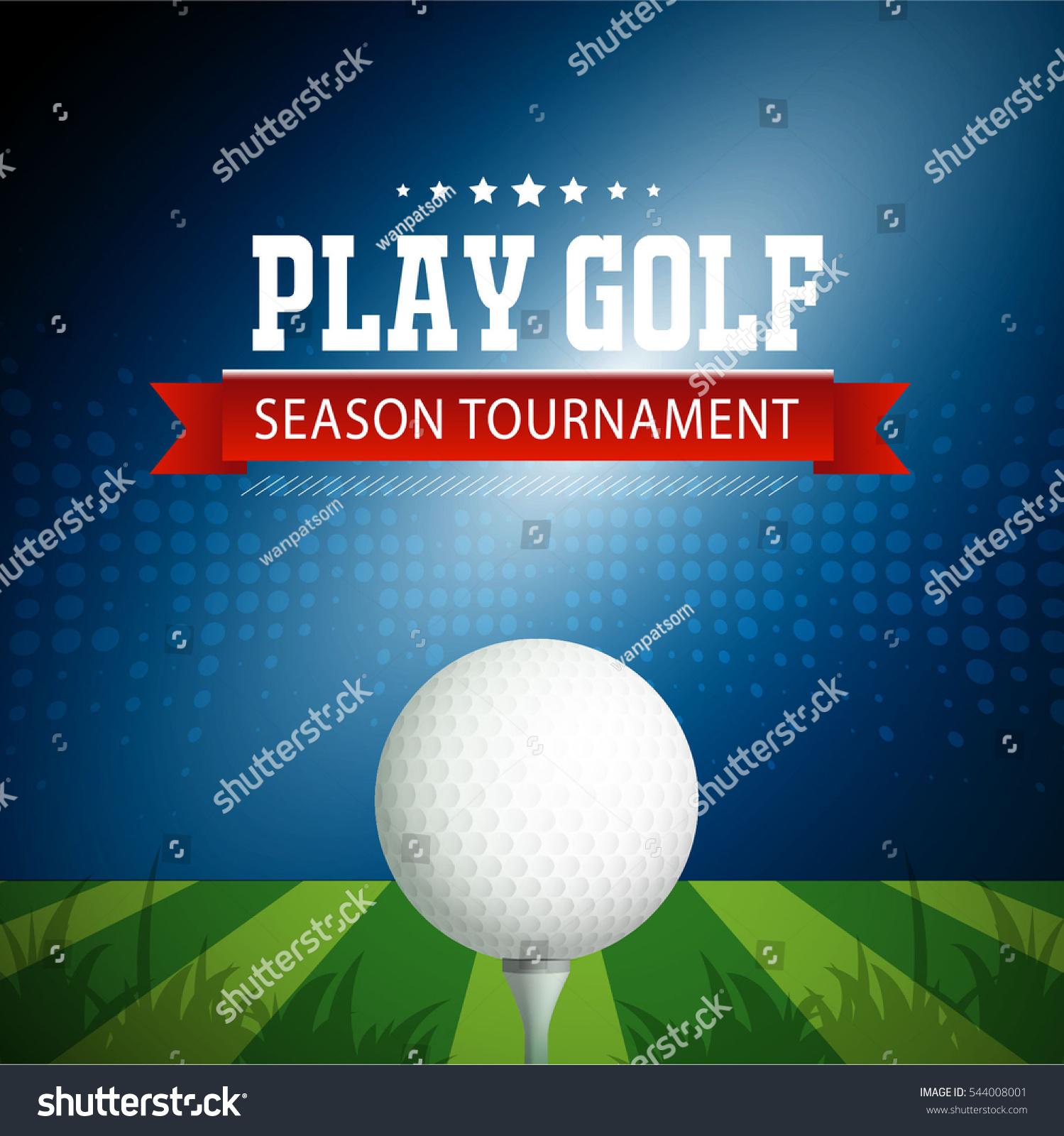 Golf tournament poster template