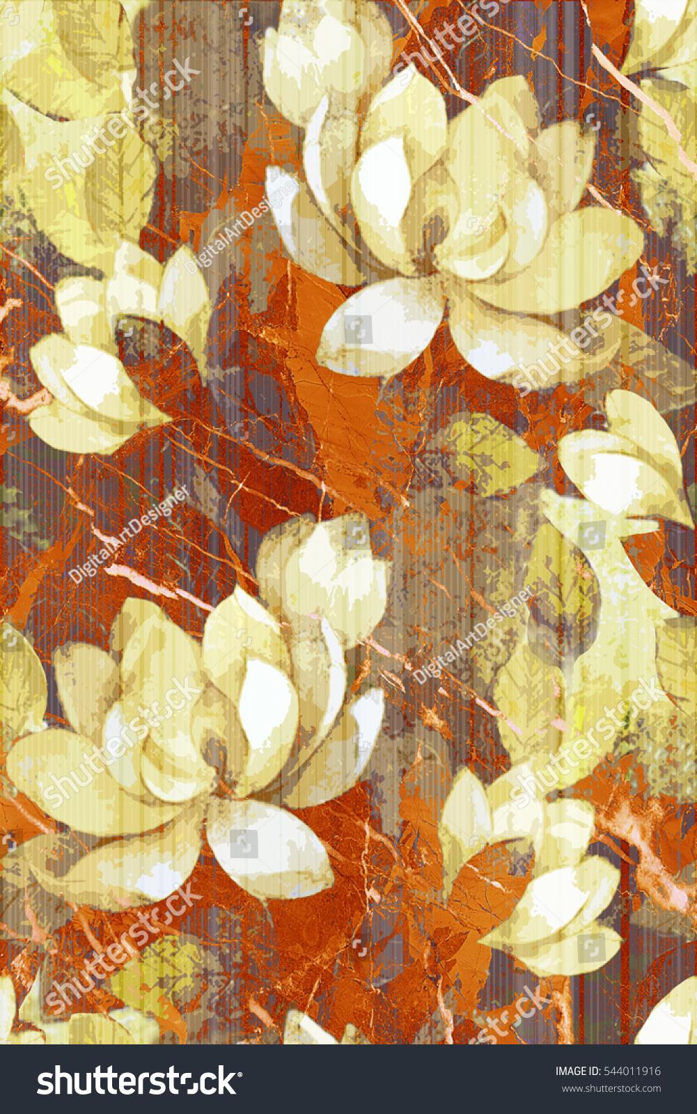 Colorful Vintage Ceramic Tiles Wall Decoration Digital Stock ...