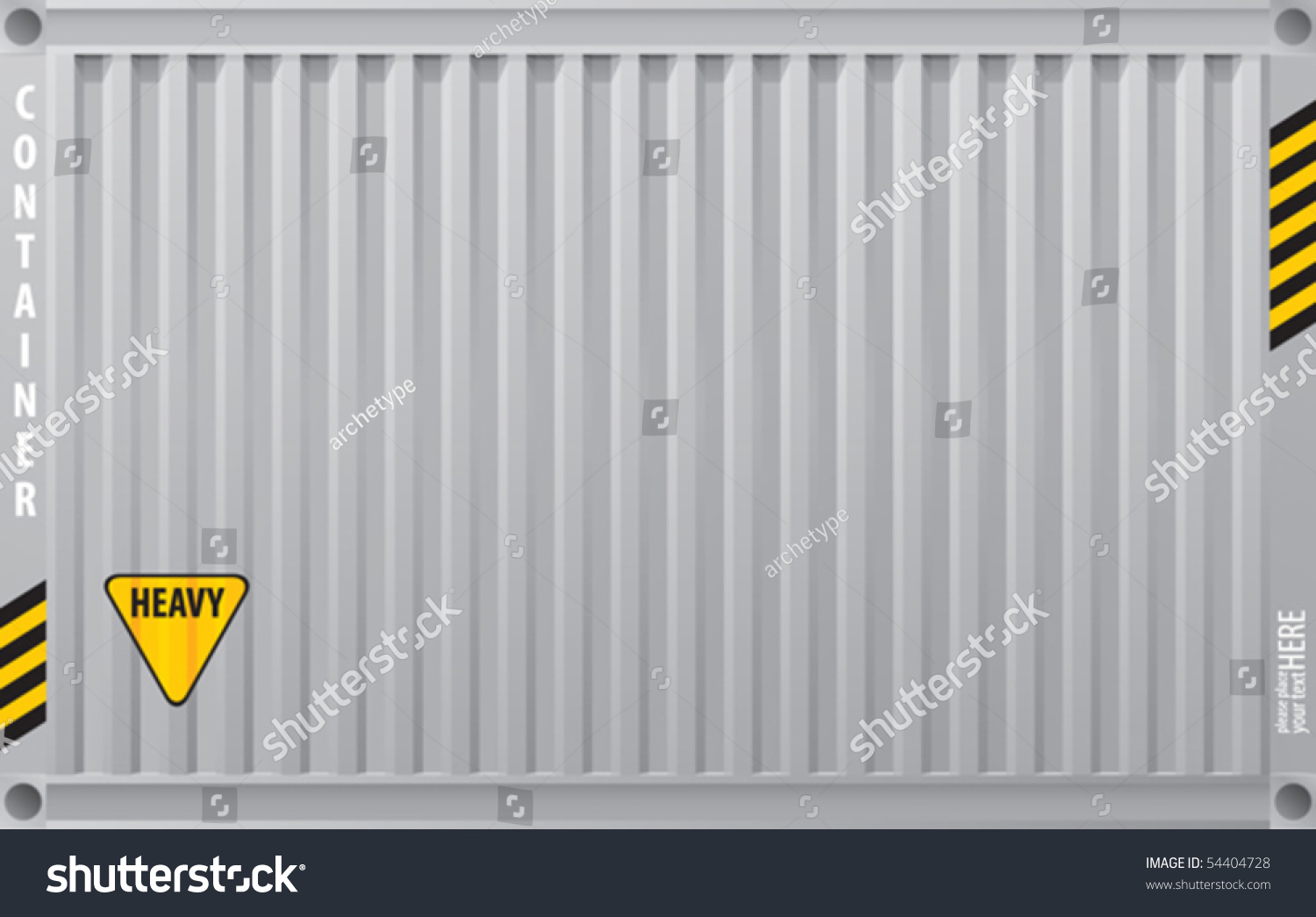 Metal Surface Cargo Container Vector Background Stock