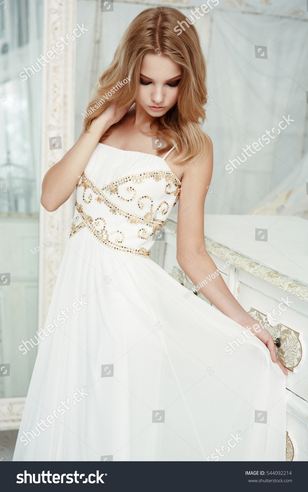 Smartly Dressed Charming Young Beautiful Girl Stock Photo (Royalty ...