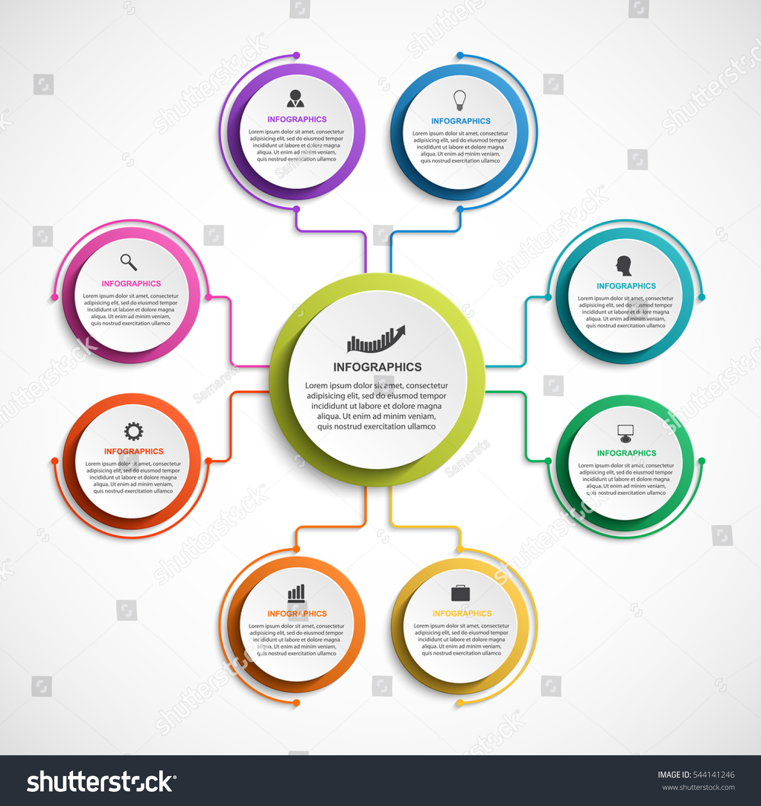 infographic design organization chart template stock vector 544141246 shutterstock. Black Bedroom Furniture Sets. Home Design Ideas