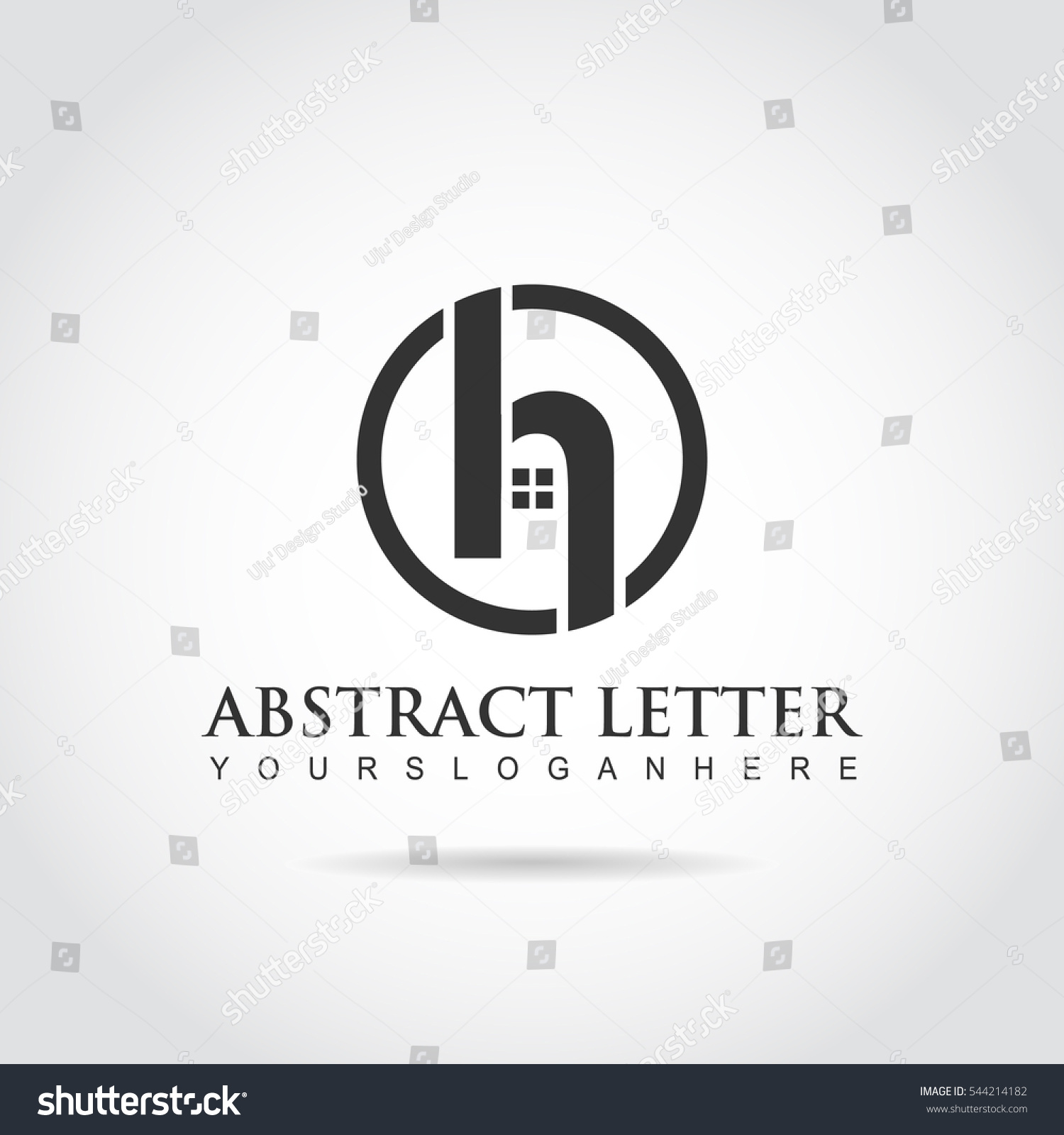 abstract letter h logo building rea stock vector royalty free