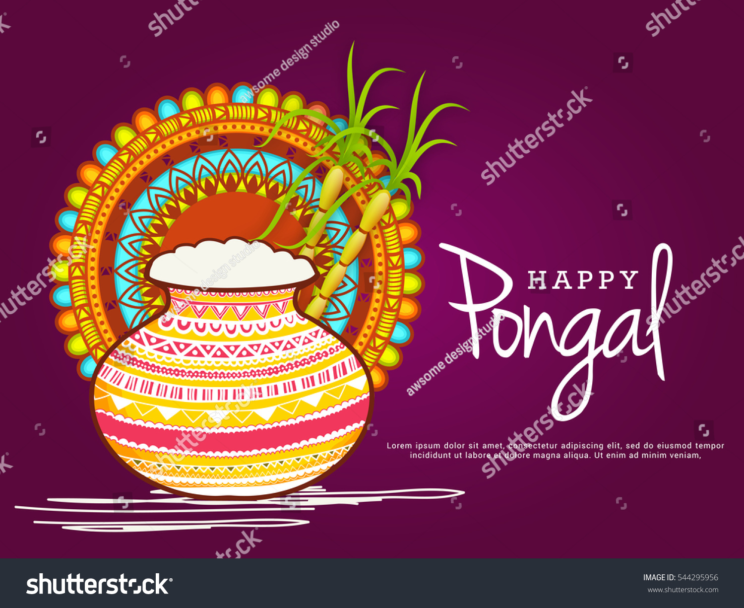 Happy pongal greeting card stock vector royalty free 544295956 happy pongal greeting card m4hsunfo