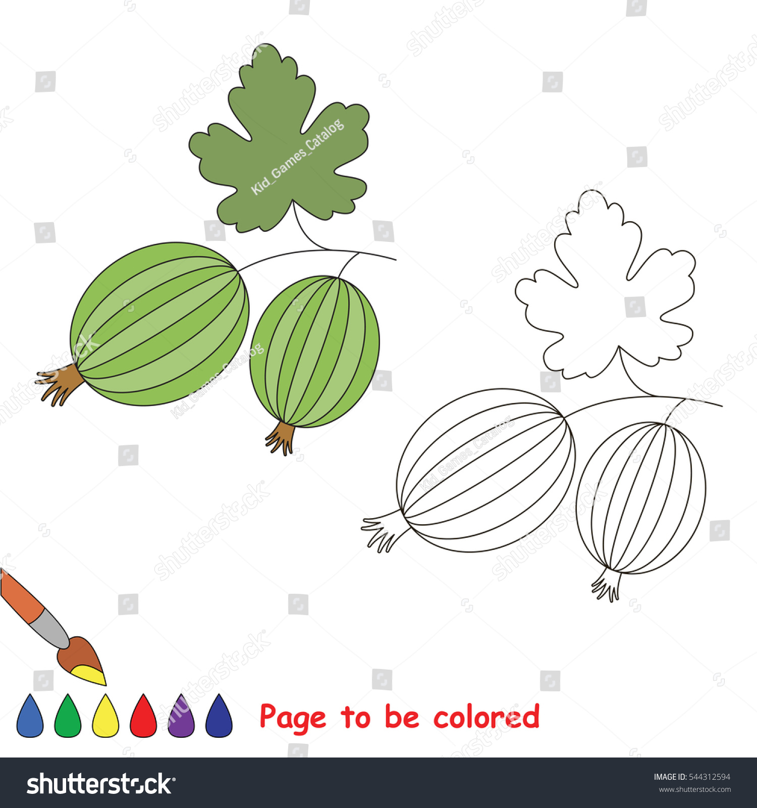 Educational Worksheet Be Colored By Sample Stock Vector 544312594 ...