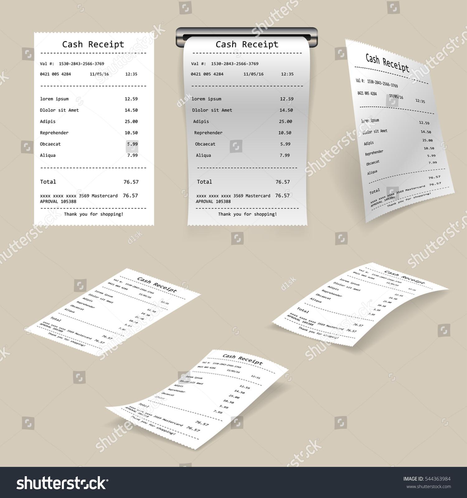 Cash Receipt Stock-Vektorgrafik 544363984 – Shutterstock