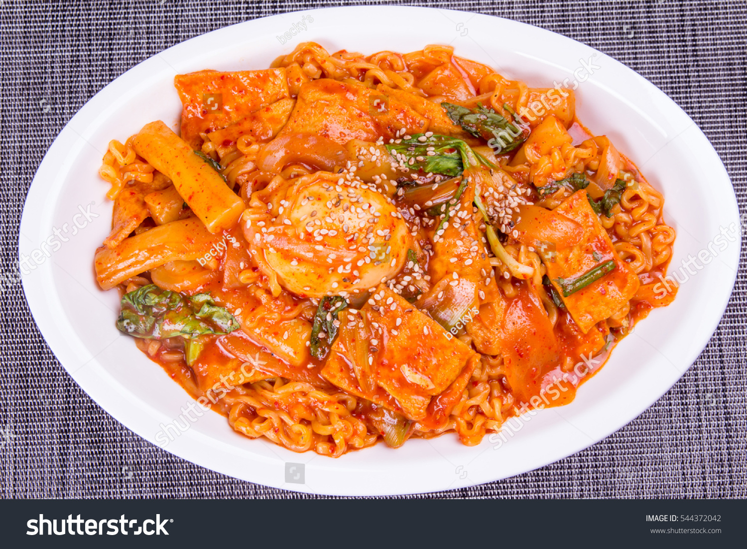 Stir Fried Rice Cake Korean Food Stock Photo Edit Now 544372042