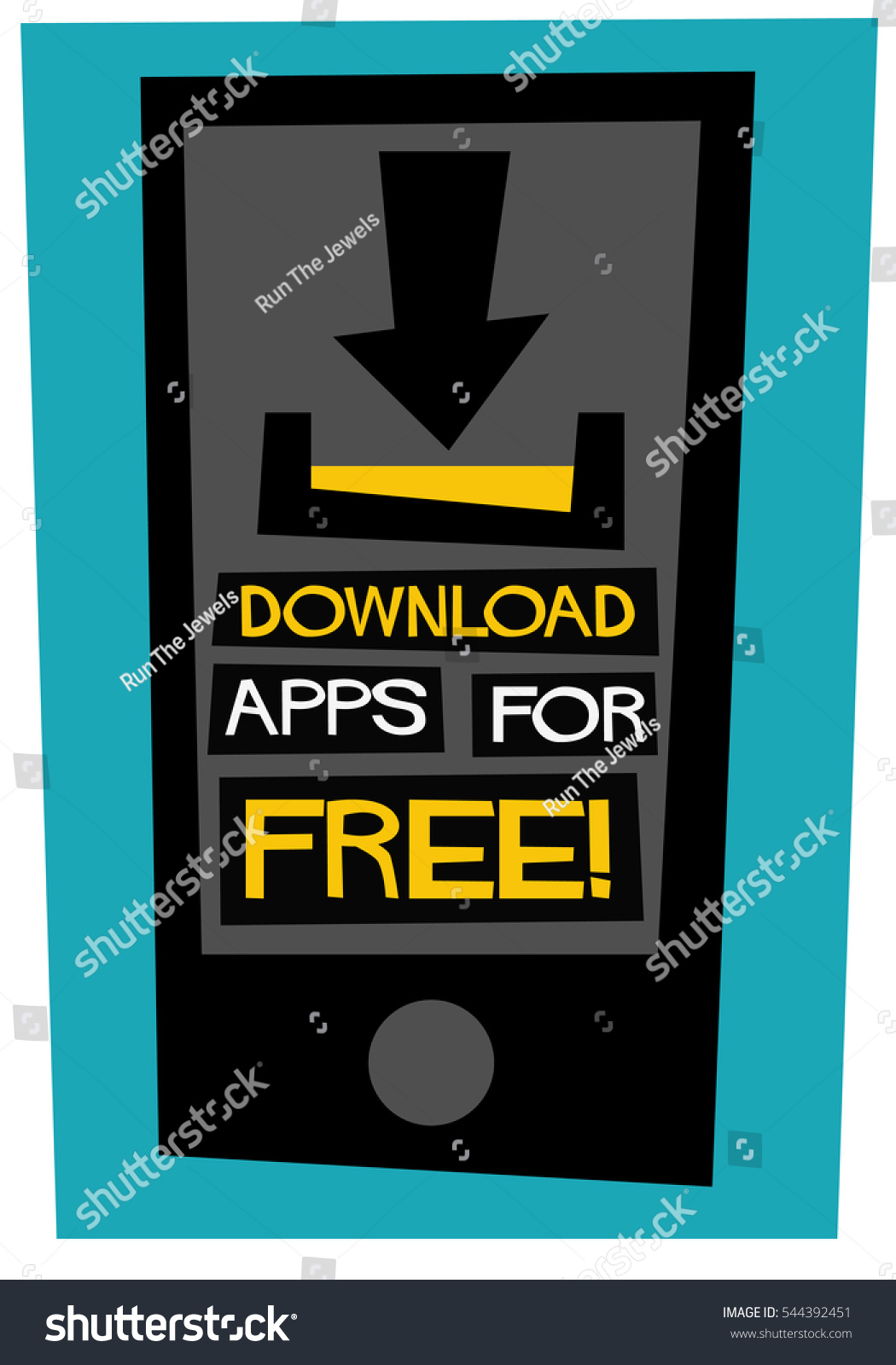 Poster design vector download - Download Apps For Free Flat Style Vector Illustration Quote Poster Design