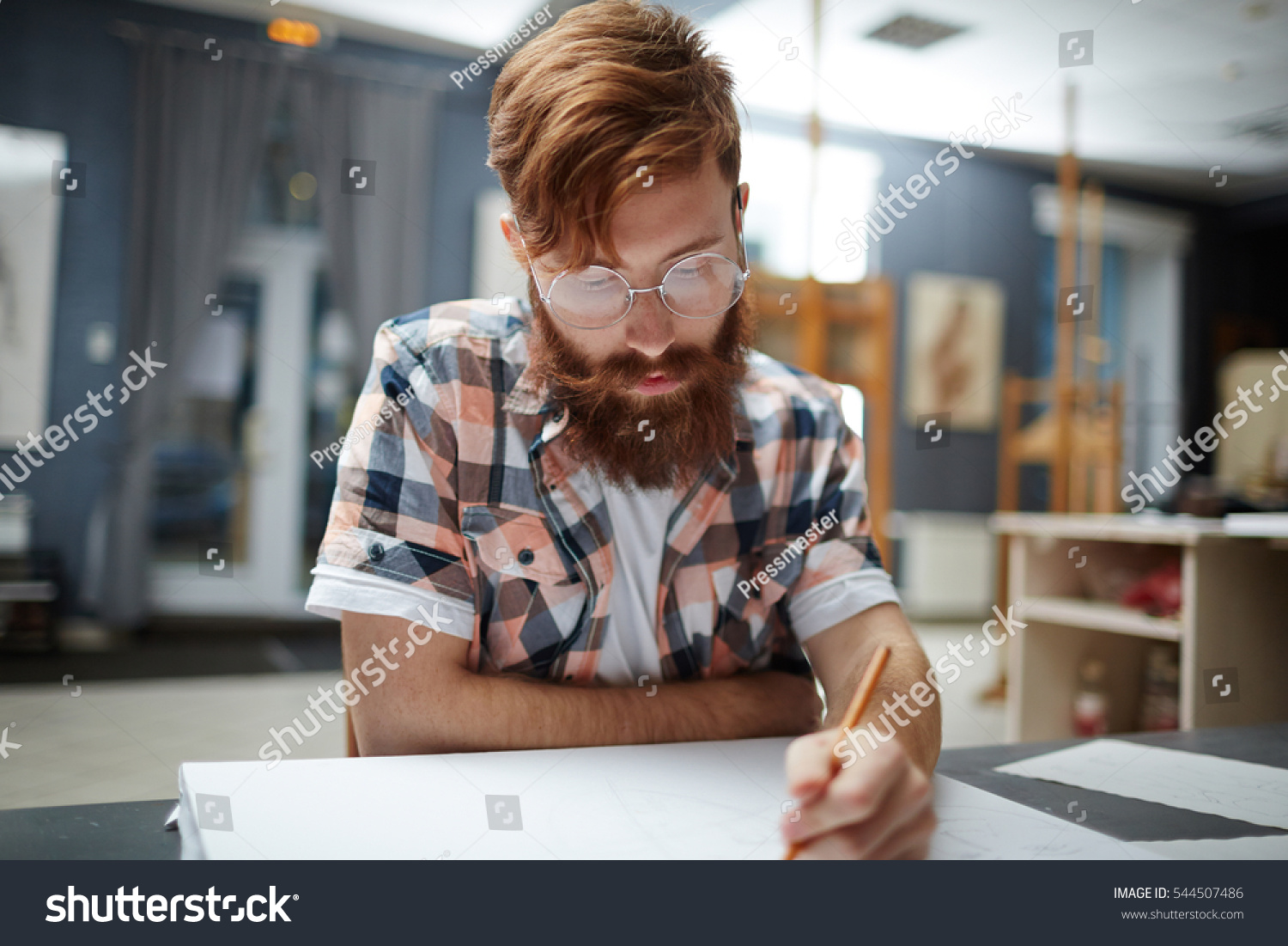 Sketching Lesson Stock Photo 544507486 - Shutterstock