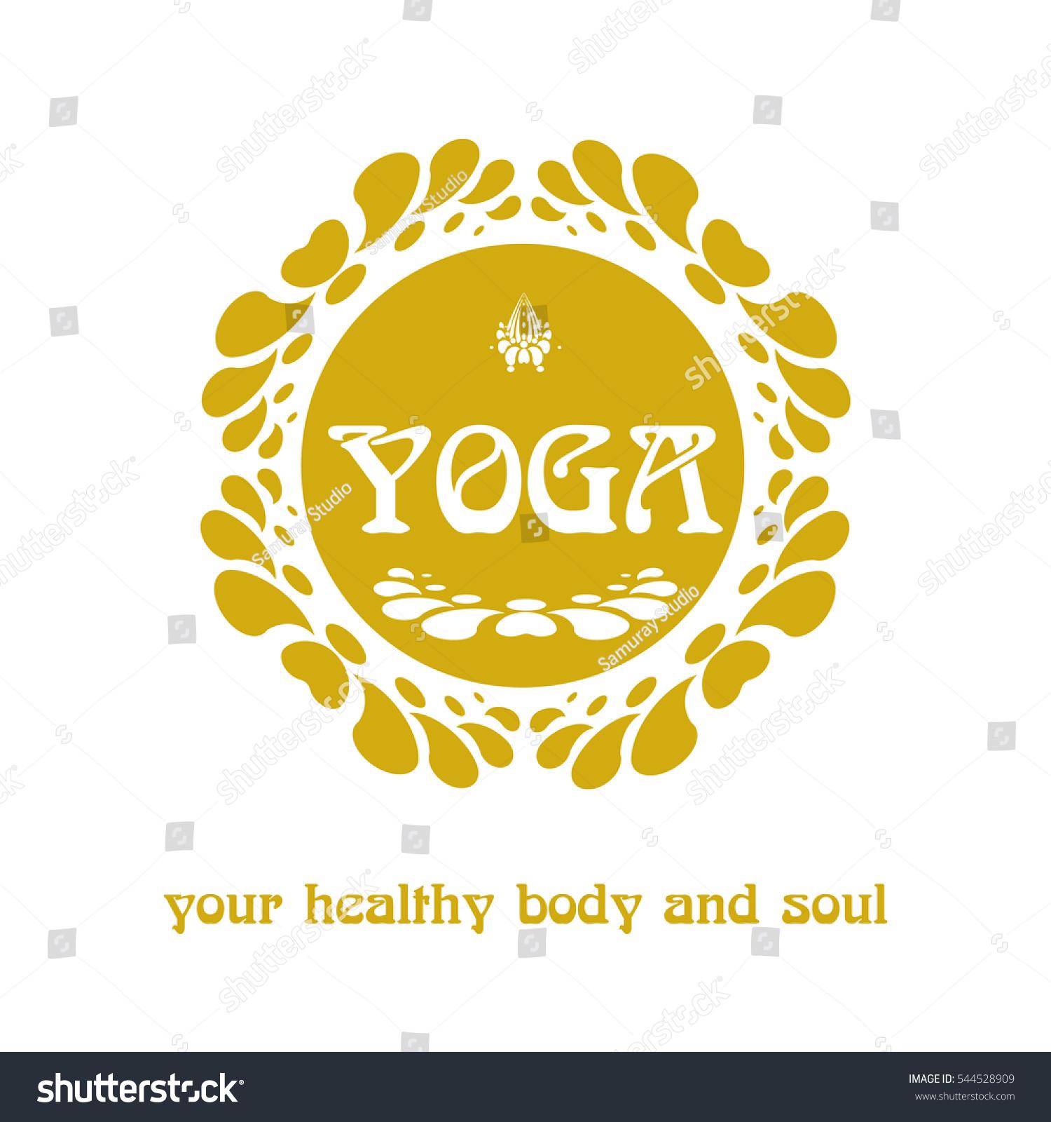 Yoga Logo Abstract Symbol Flower Lotus Stock Vector Royalty Free