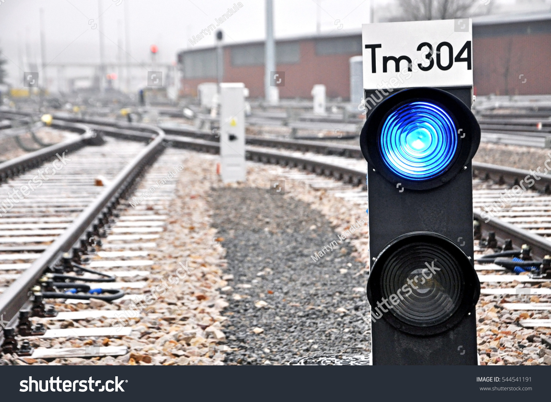 Small Blue Light Blue Aspect Railway Stock Photo (Edit Now