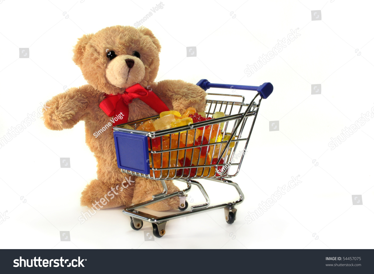 Teddy Laden teddy shopping carts laden colorful gummy stock photo 54457075