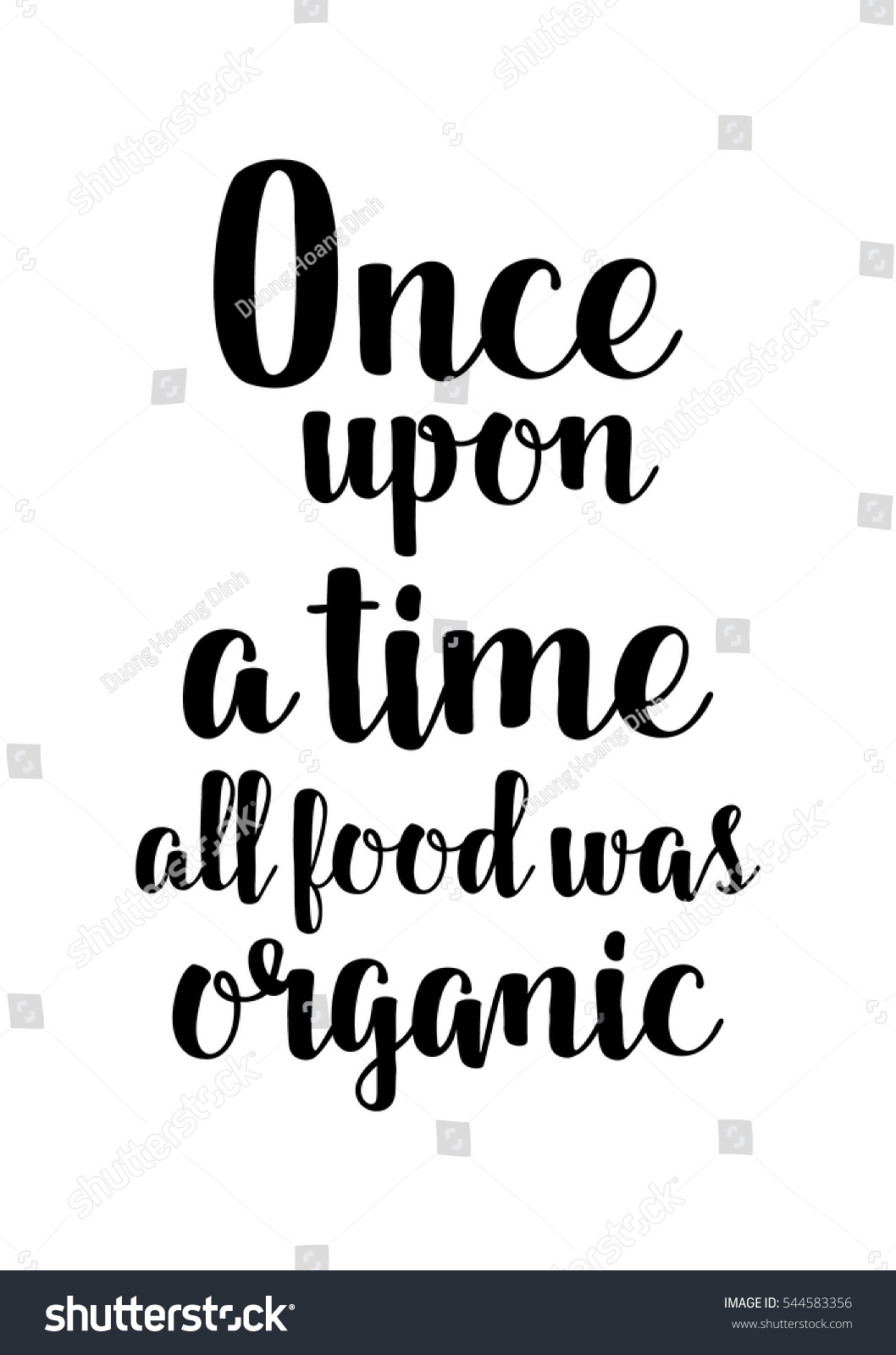 Once Upon A Time All Food Was Organic