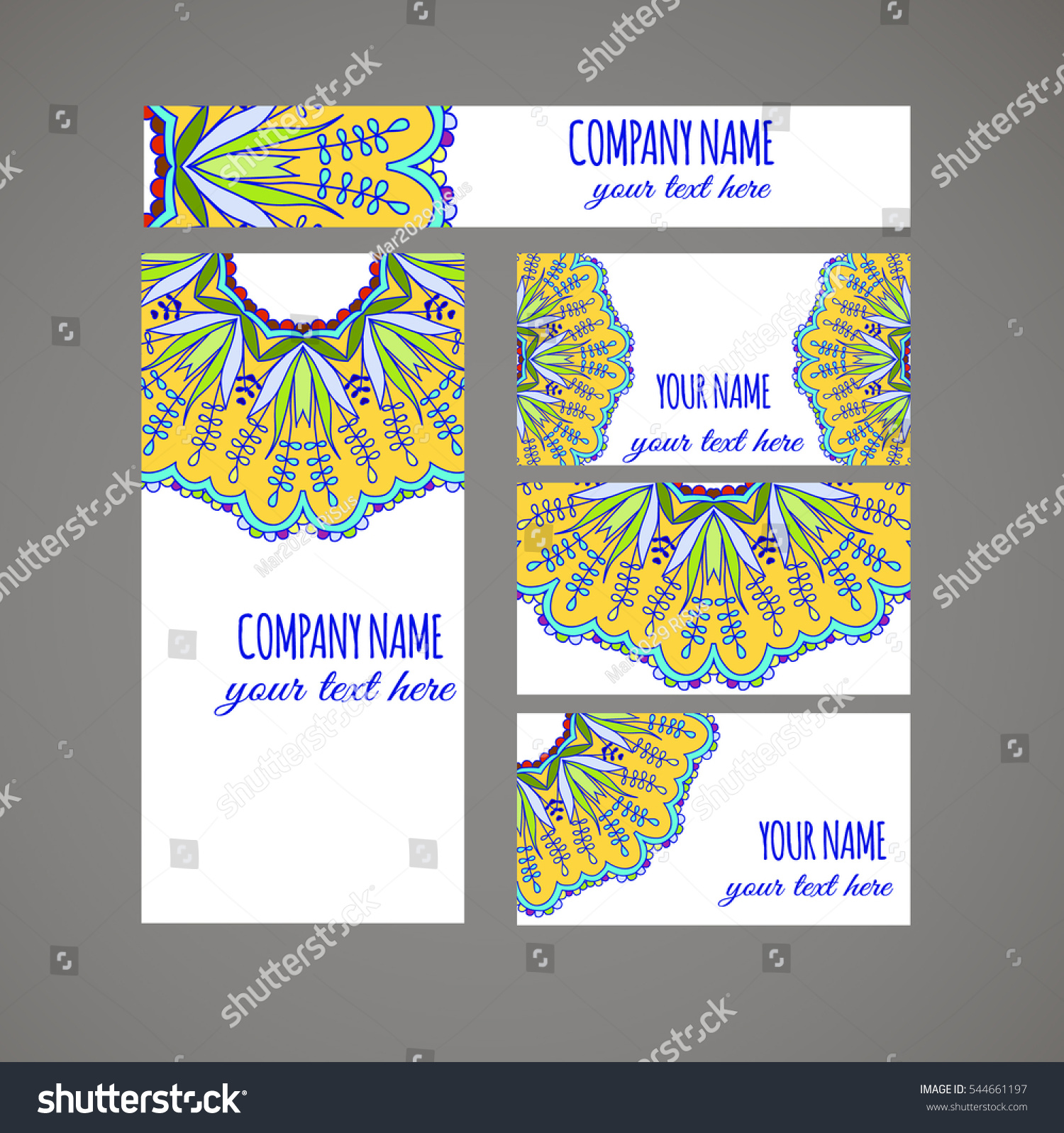 Design Templates Business Cards Flyers Invitations Stock Photo ...