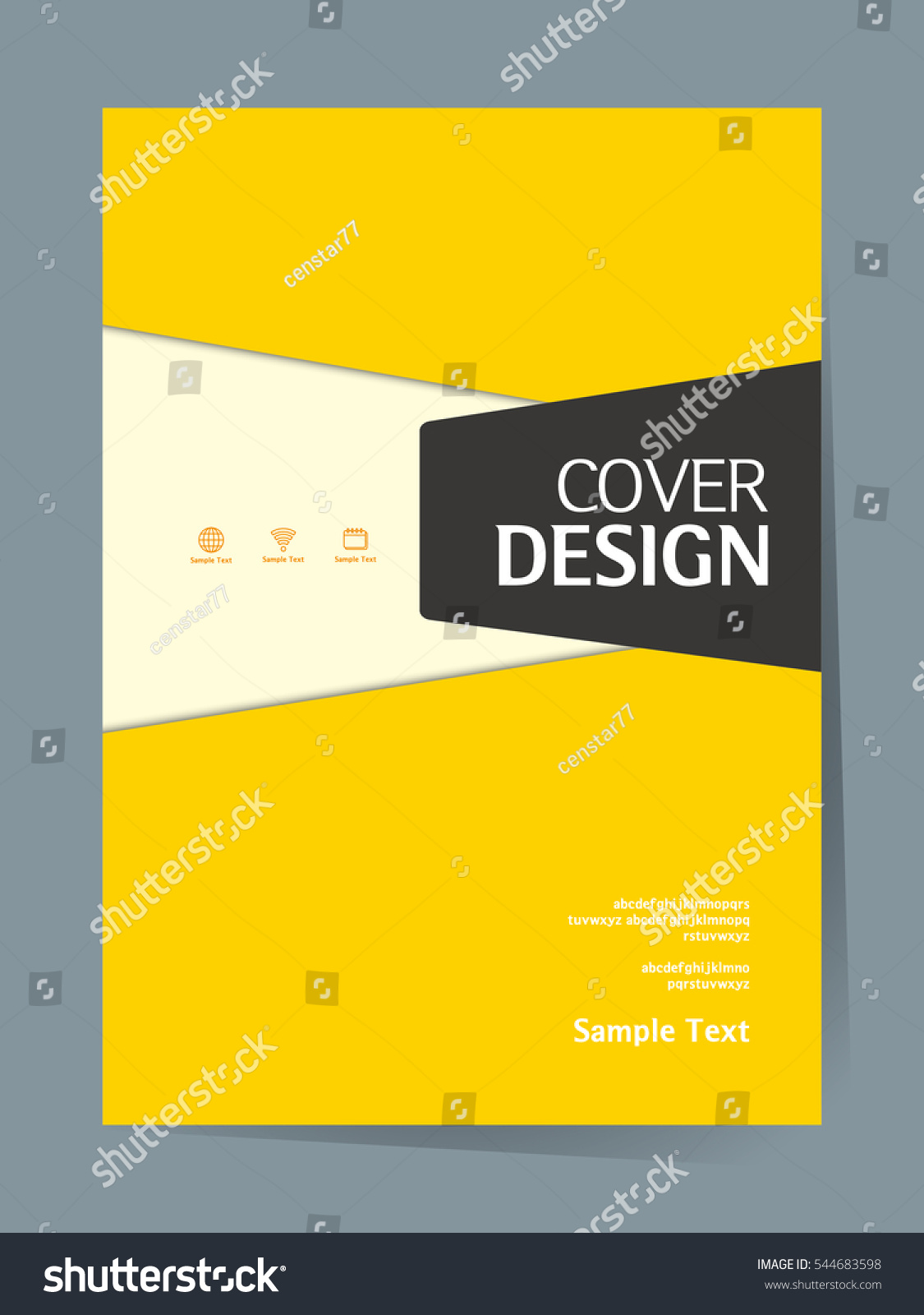 Simple Book Cover Template : Book cover design vector template a 스톡 벡터