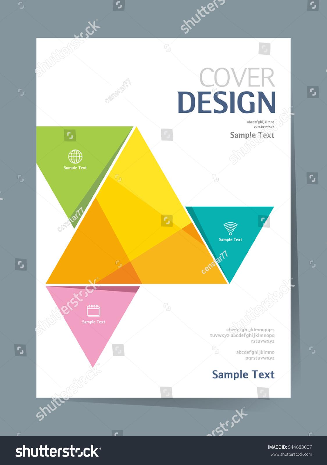 Simple Book Cover Design Template : Book cover design vector template a stock