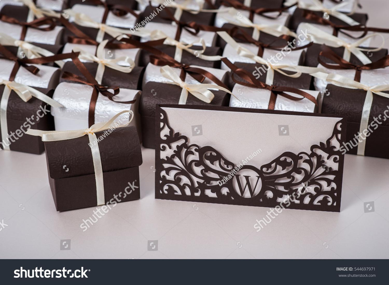 Wedding Invitation Gift Box The Bination Of Brown And Ivory: Chocolate Ivory Wedding Invitation At Reisefeber.org