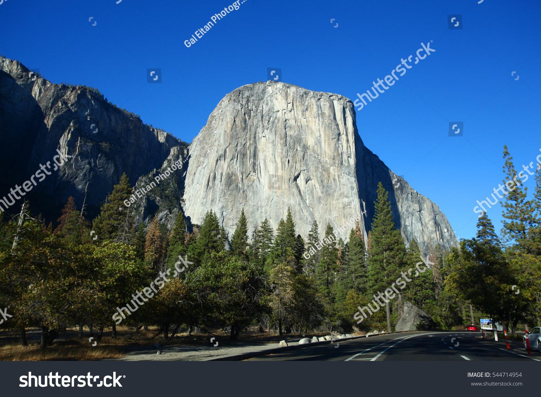 el capitan famous rock yosemite california stock photo (royalty free