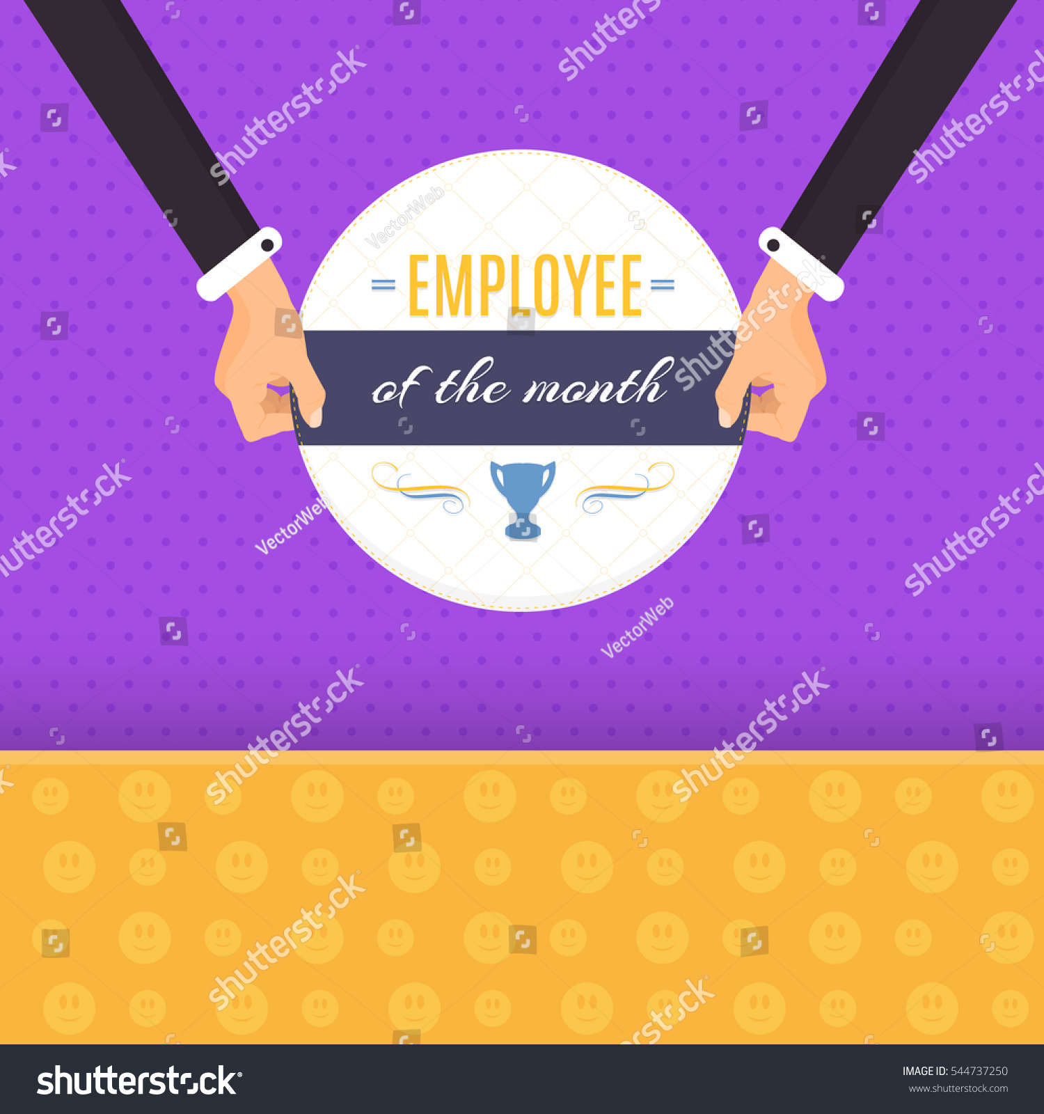 Employee Of The Month Quotes Colorful Illustration Business Slogans Motivation Quote Stock