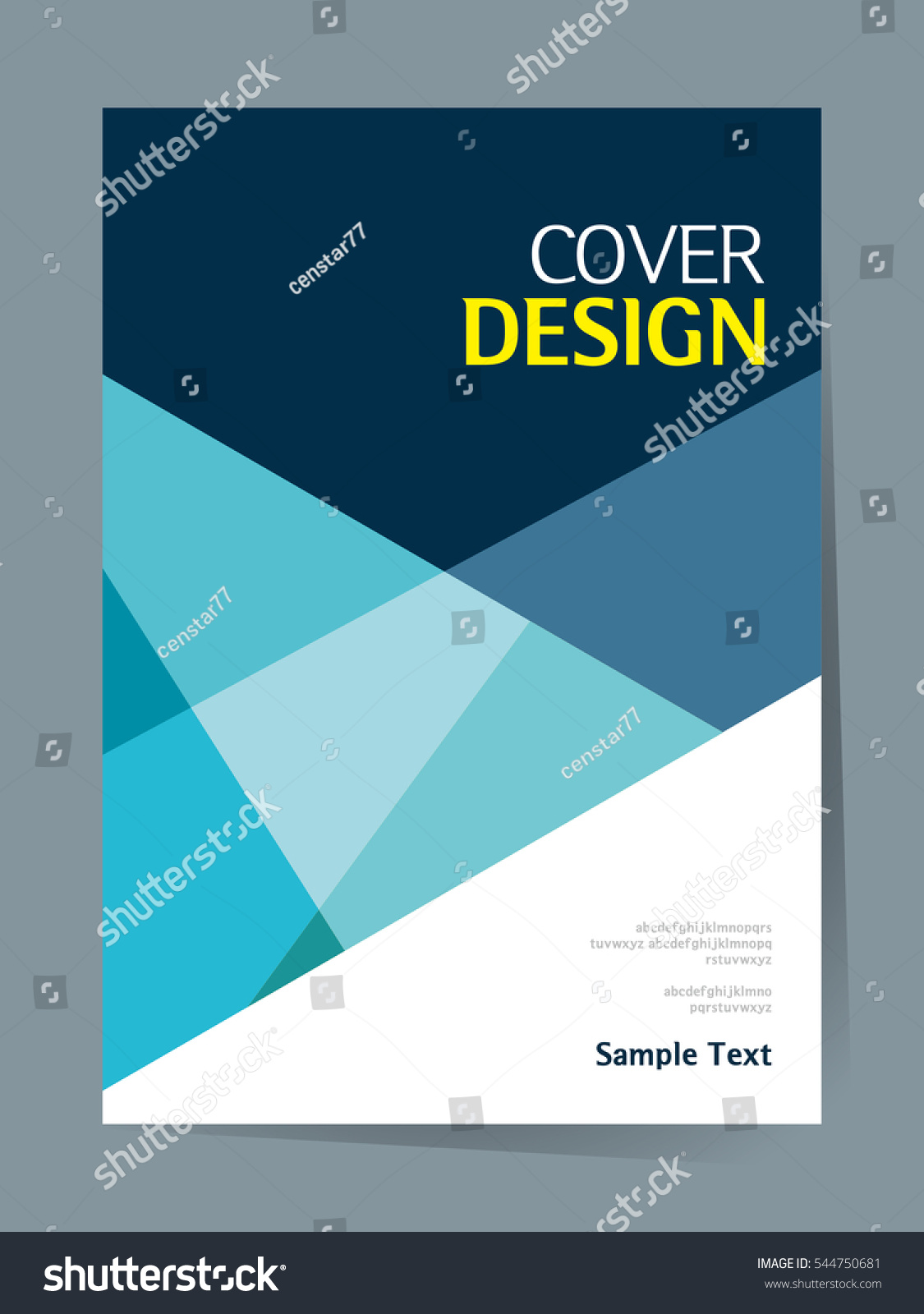 Simple Book Cover Template ~ Book cover design vector template a stock