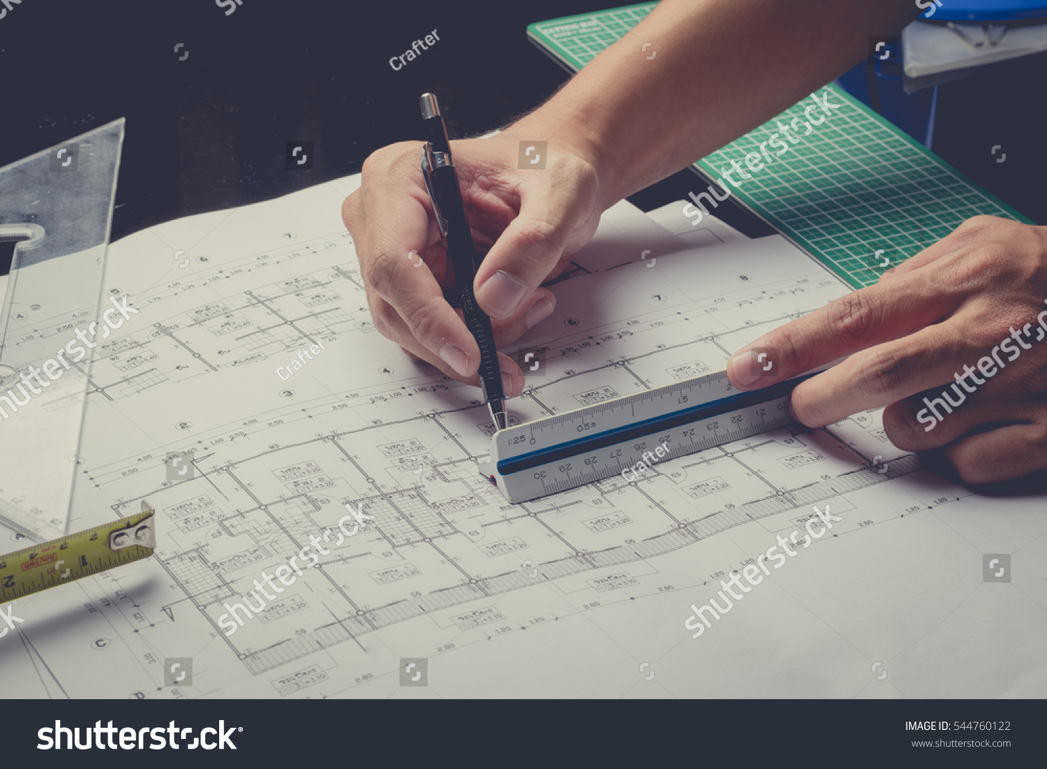 Engineering diagram blueprint paper drafting project stock photo engineering diagram blueprint paper drafting project sketch architecturalvintage filter selective focus malvernweather Image collections