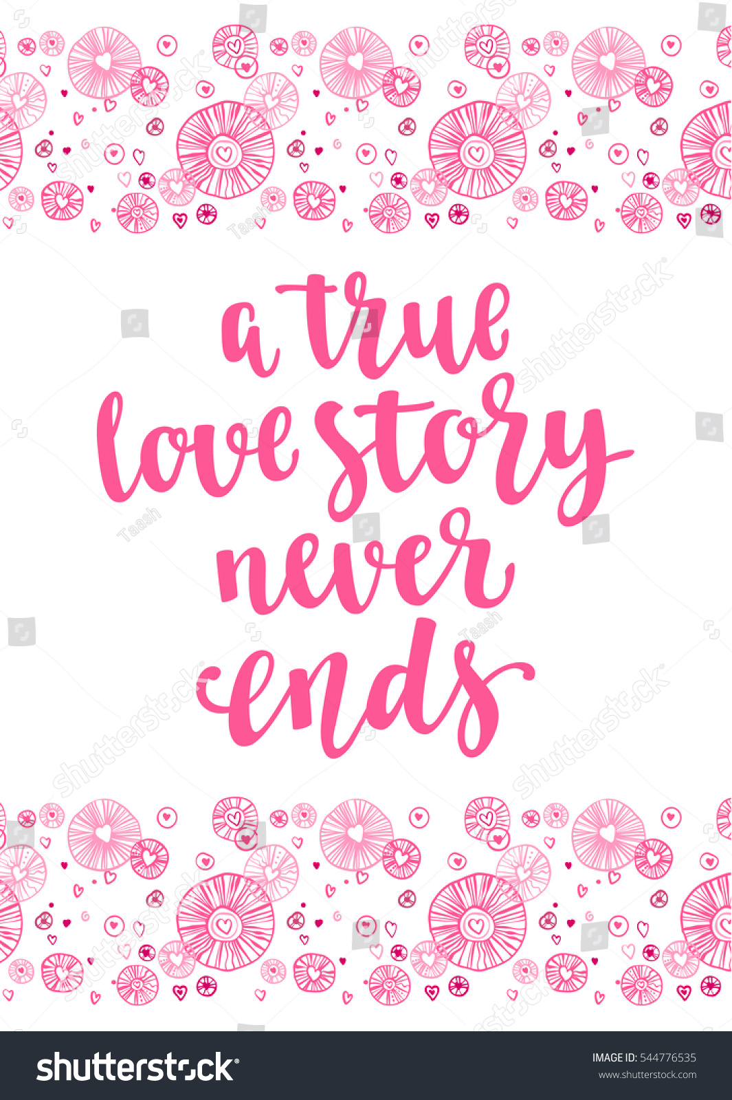 valentines day quote romantic saying for posters cards or leaflet vector phrase on