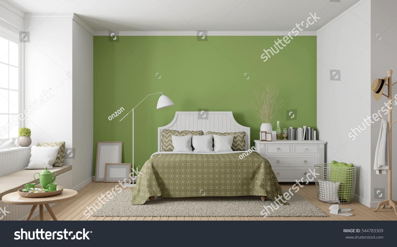 Modern Vintage Bedroom D Rendering Image Stock Illustration - Modern vintage bedroom
