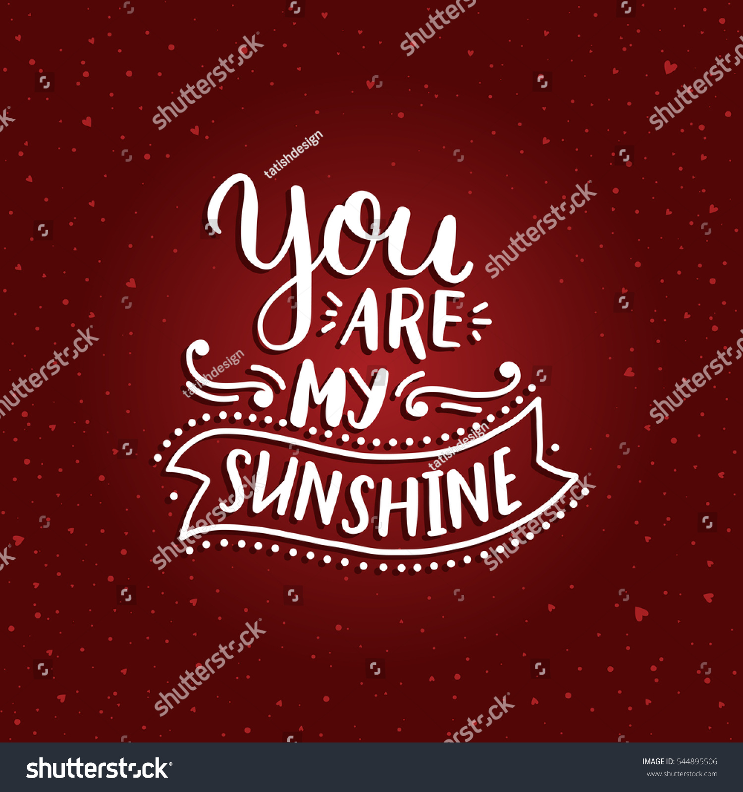 Valentines day card with shine elements vector