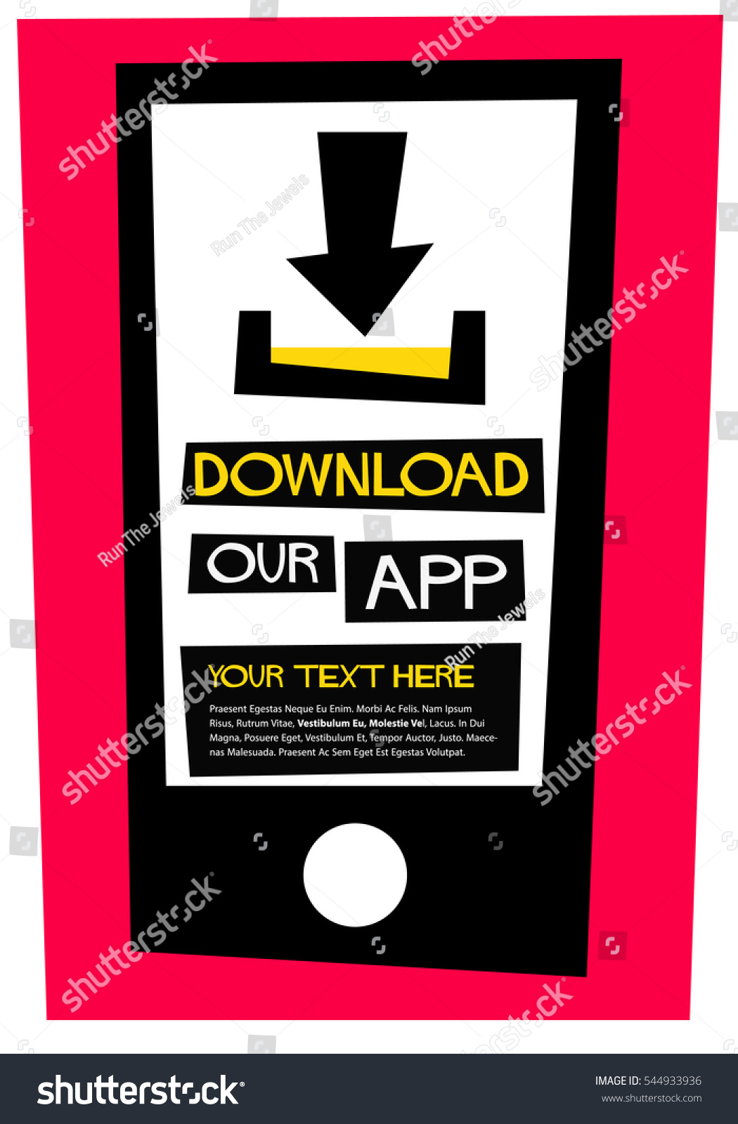 Poster design vector download - Download Our App Flat Style Vector Illustration Quote Poster Design With Text Box Template