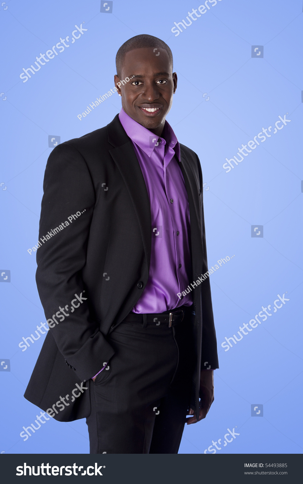 Handsome Happy African American Corporate Business Stock Photo