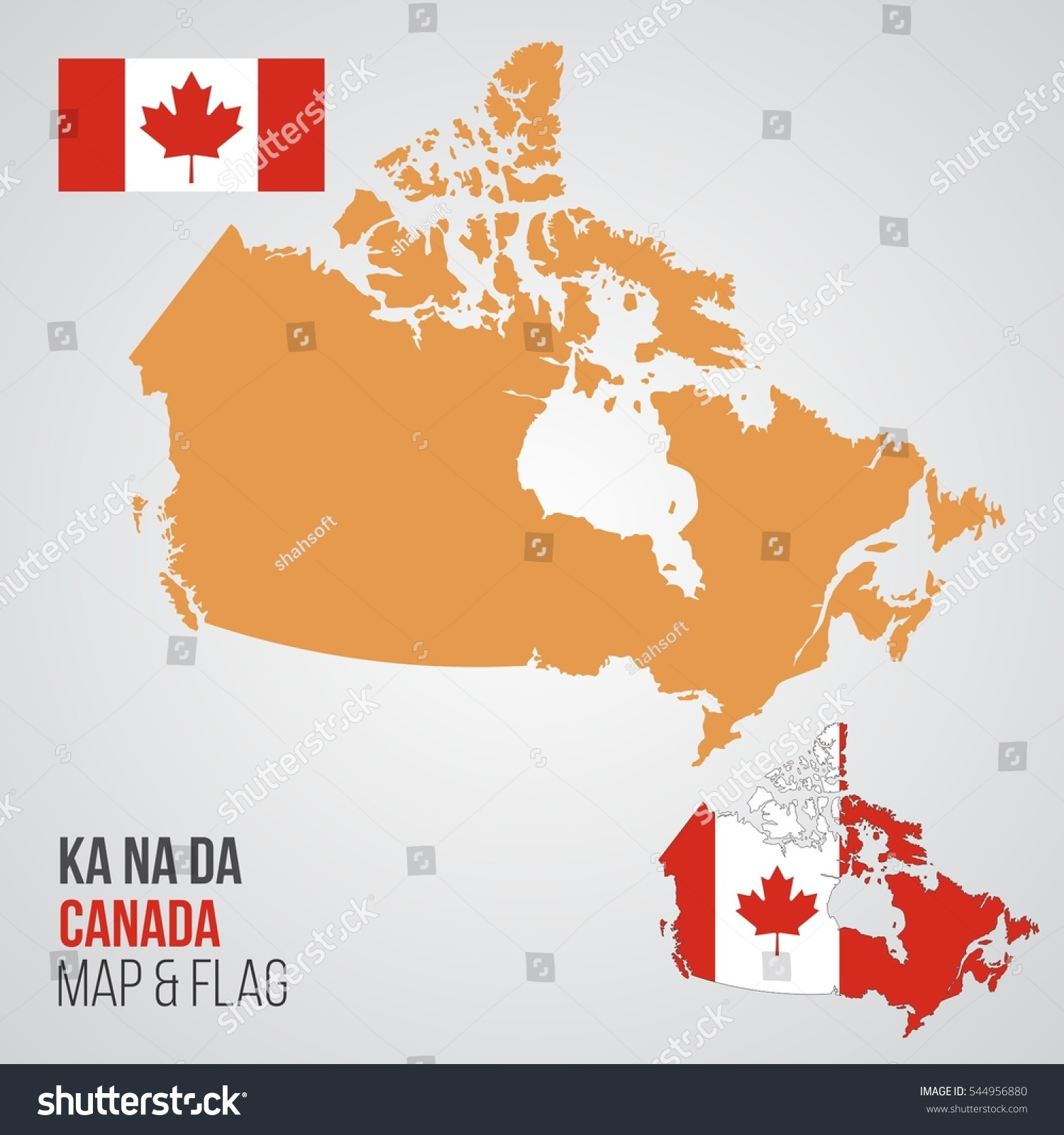 Canada Map Flag.Canada Map Flag Stock Vector Royalty Free 544956880 Shutterstock