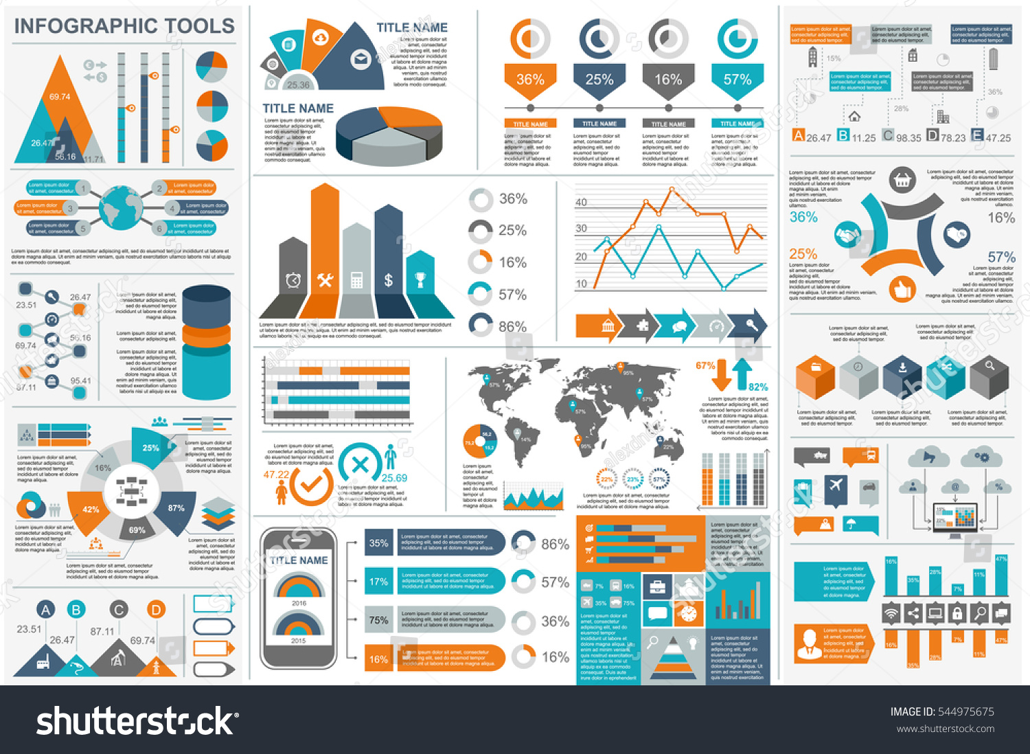 Top Infographic Elements Data Visualization Vector Design Stock Vector  GF74