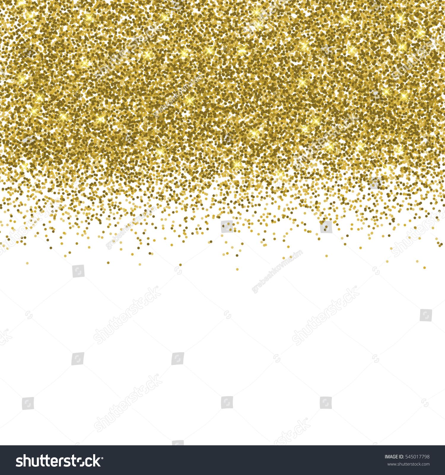 Confetti background vector golden confetti background - Vector Gold Glitter Confetti Pattern On White Background Shine Premium Wallpaper For Vip Greeting Card