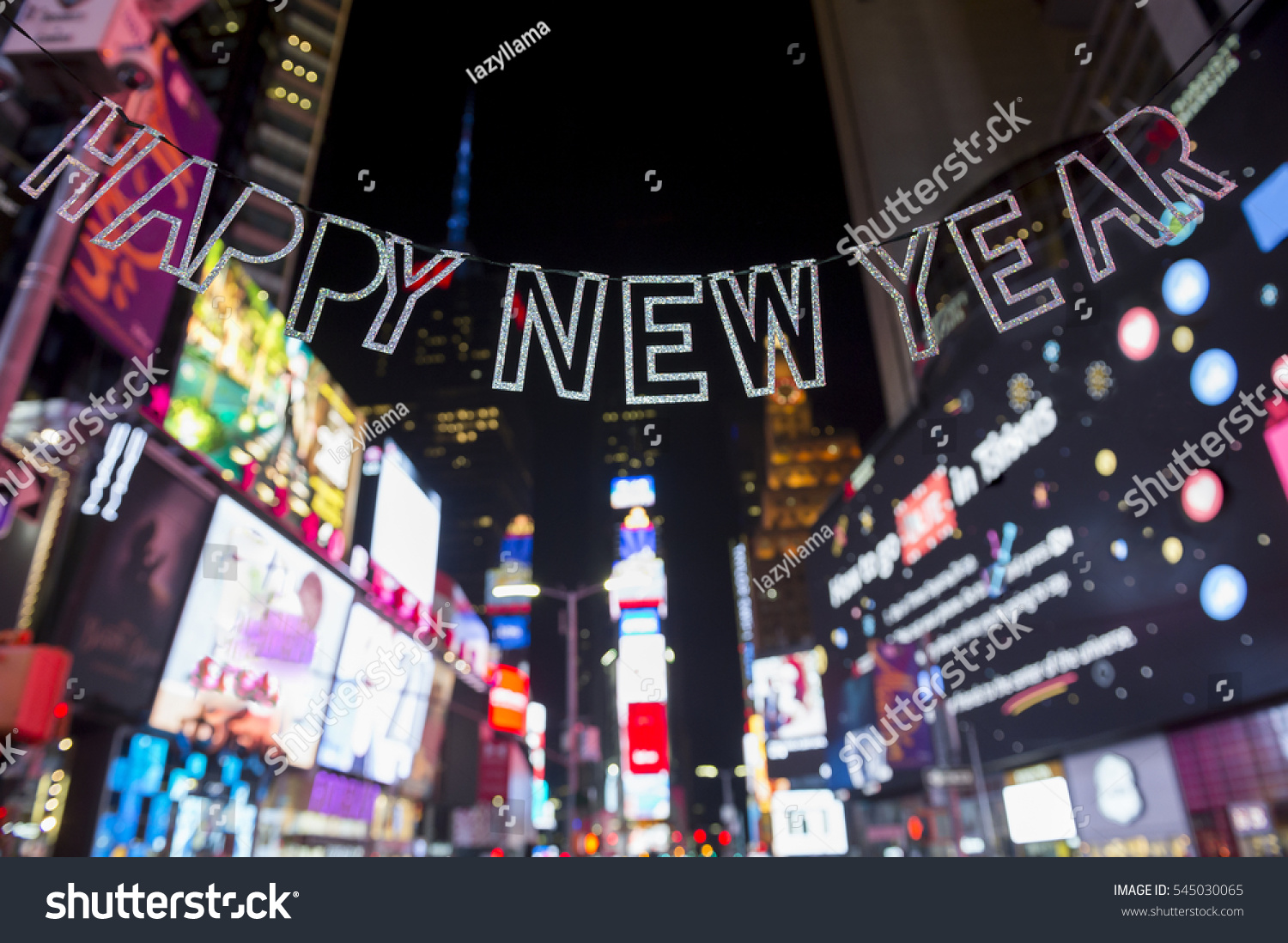 happy new year message times square new york city