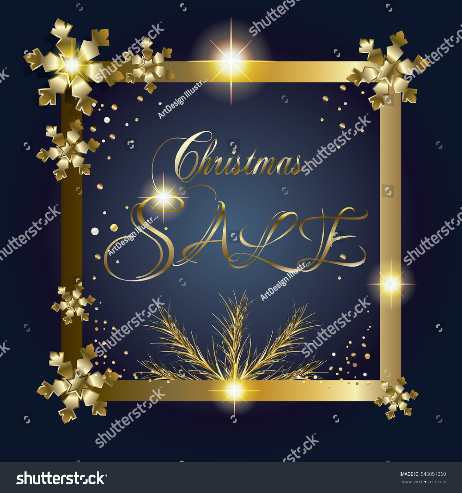 winter holiday vector sale christmas sale stock vector 545051260