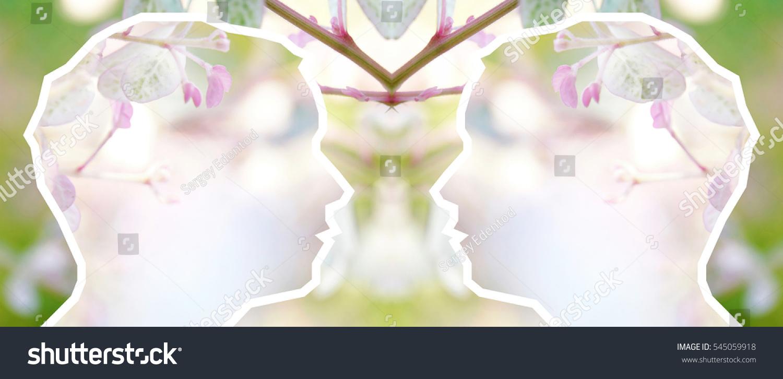Double Exposure Photo Human Head Pastel Stock Illustration 545059918